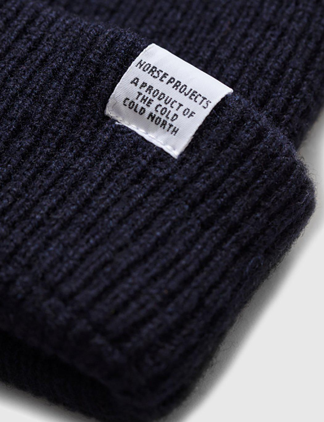 44e065340b1 Lyst - Norse Projects Norse Beanie Hat in Blue for Men