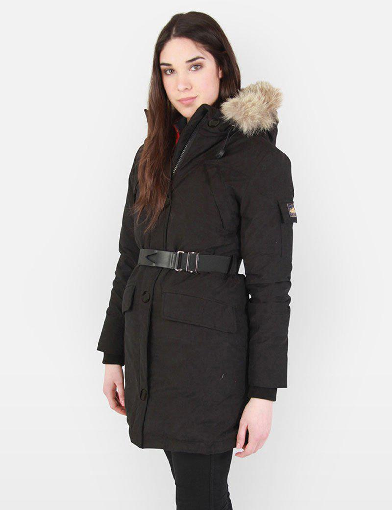 Penfield Womens Hoosac Faux Fur Hooded Parka in Black Lyst