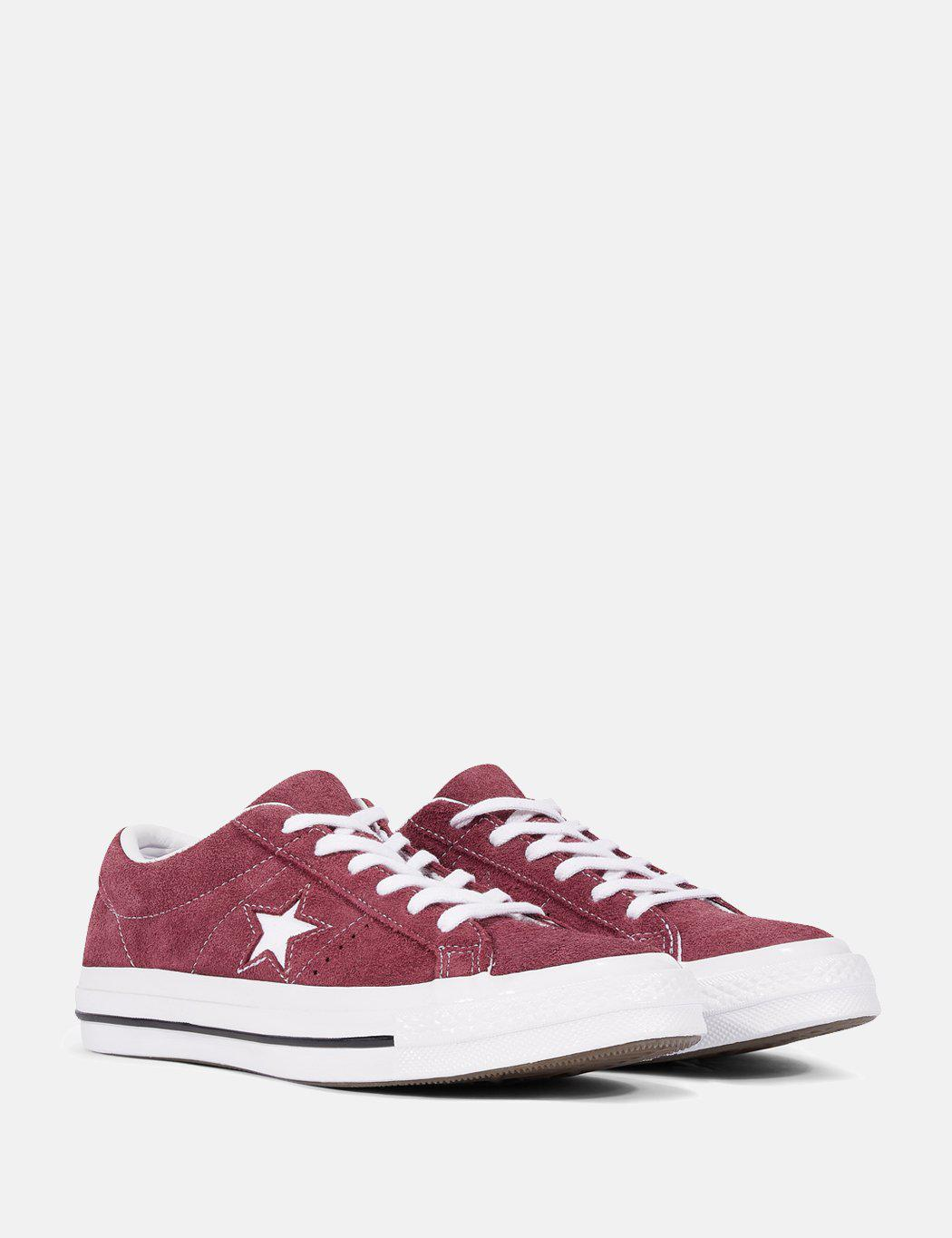 f0c82181559b Lyst - Converse Unisex Adults  Lifestyle One Star Ox Suede Fitness Shoes in  Red for Men - Save 65%