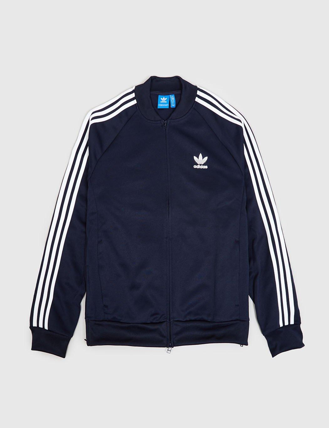 lyst adidas originals adidas superstar track jacket in. Black Bedroom Furniture Sets. Home Design Ideas