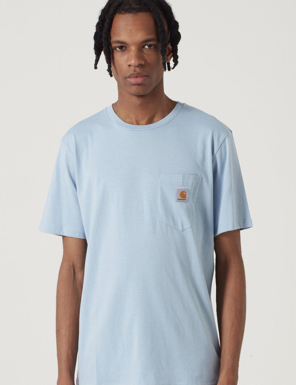 0d3846e03be7 Lyst - Carhartt Pocket T-shirt in Blue for Men