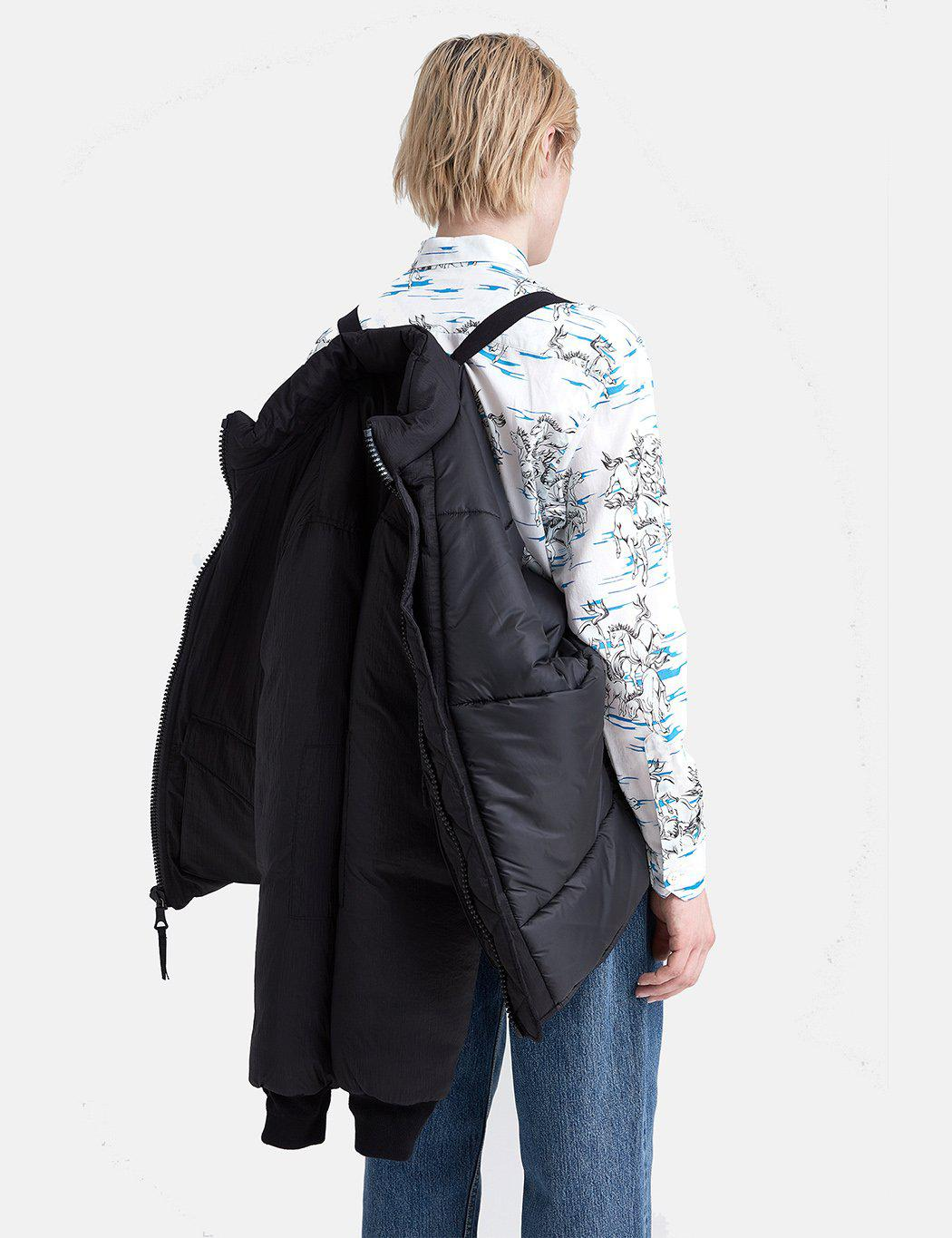 Our Legacy Synthetic Puffed Funnel Jacket (parachute Nylon) in Black for Men