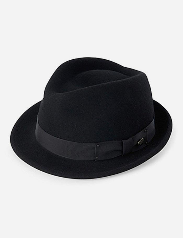 d76d6c204 Bailey of Hollywood Black Bailey Wynn Felt Trilby Hat for men