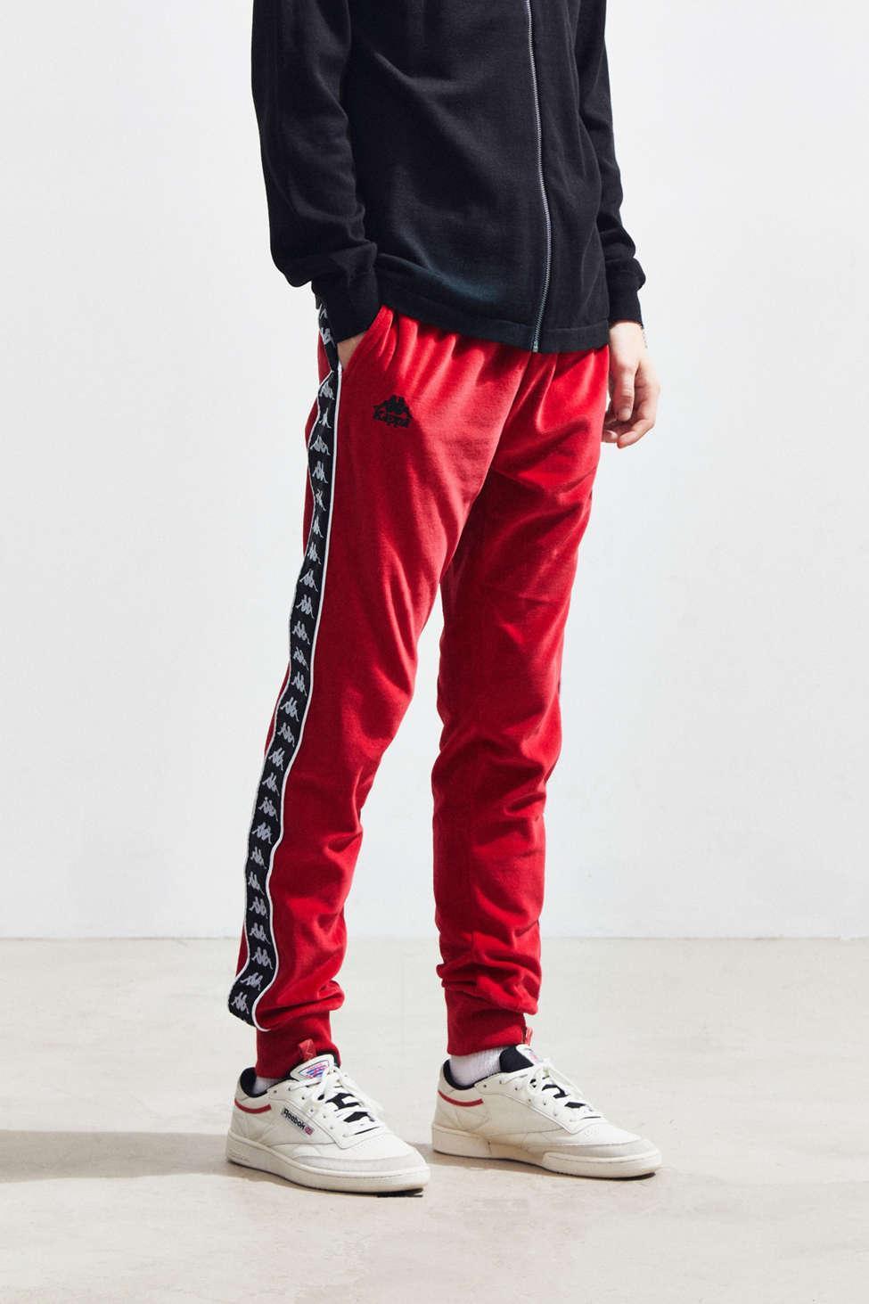 1f6bd0909c Kappa Red Authentic Banda Ayne Velour Jogger Pant for men