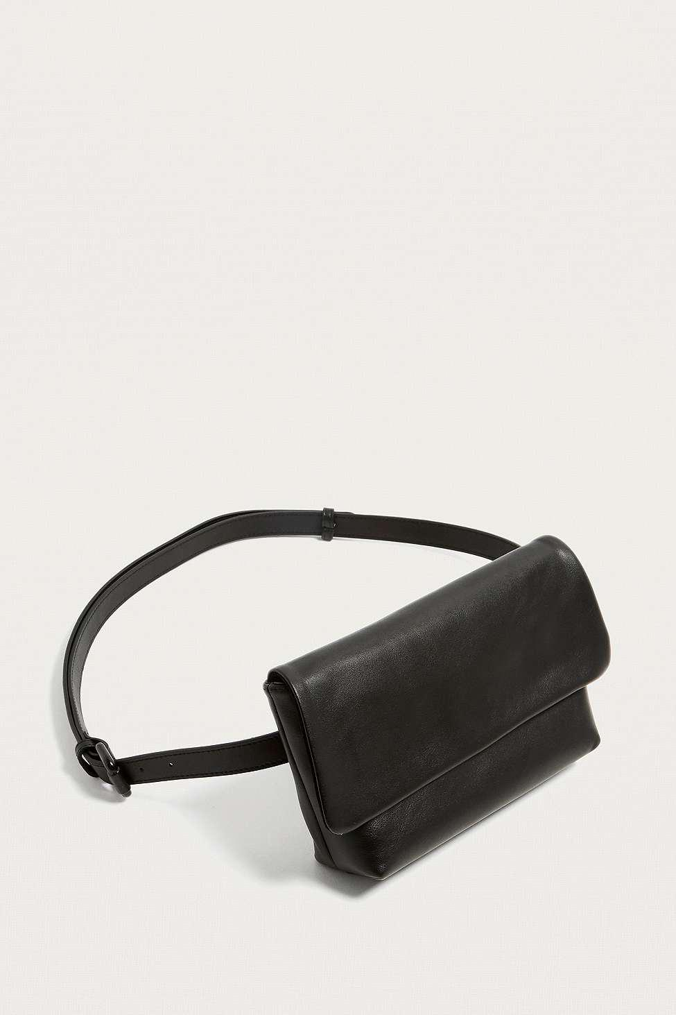 f36062004640f Vagabond Copenhagen Black Leather Bum Bag - Womens All in Black - Lyst
