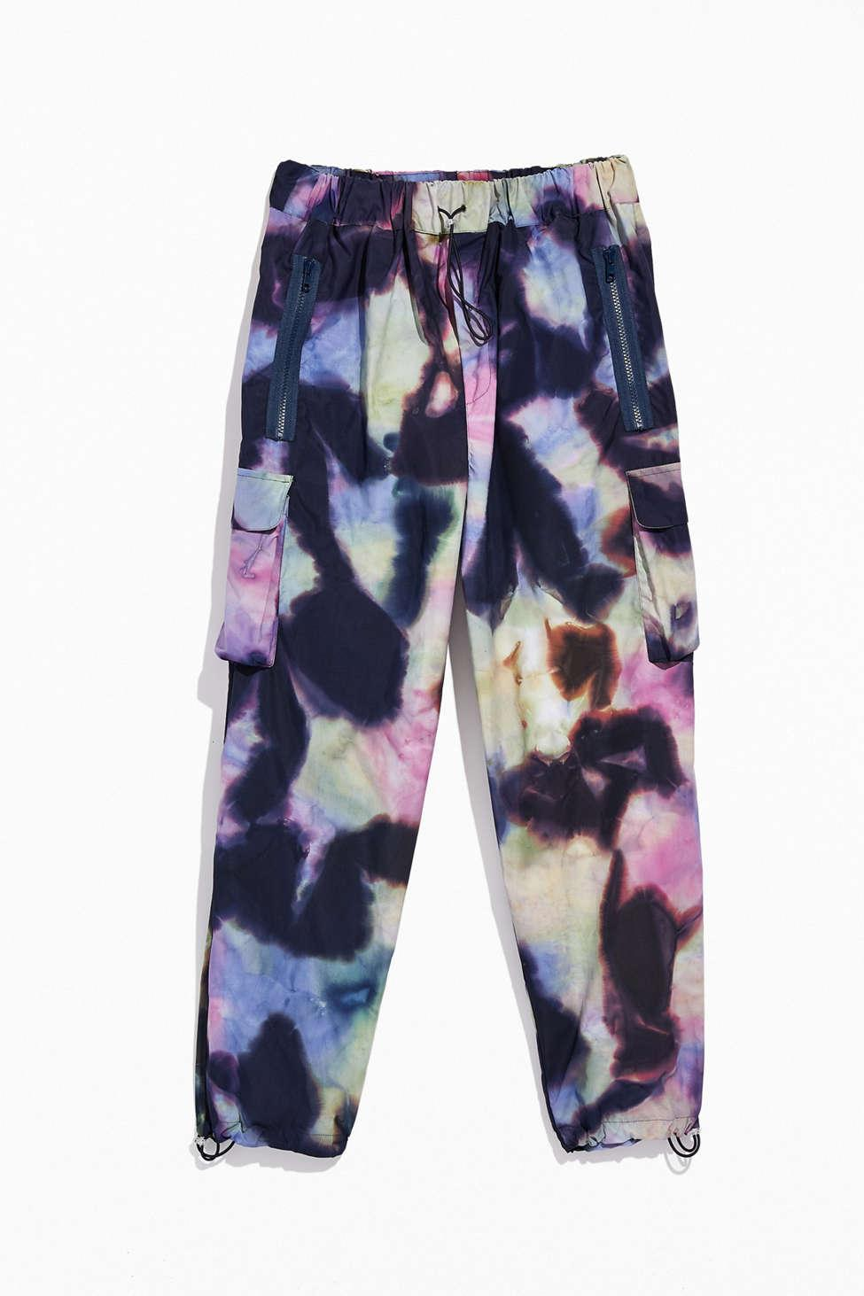 Tie-Dye drawstring Shorts  Wind  black /& grey