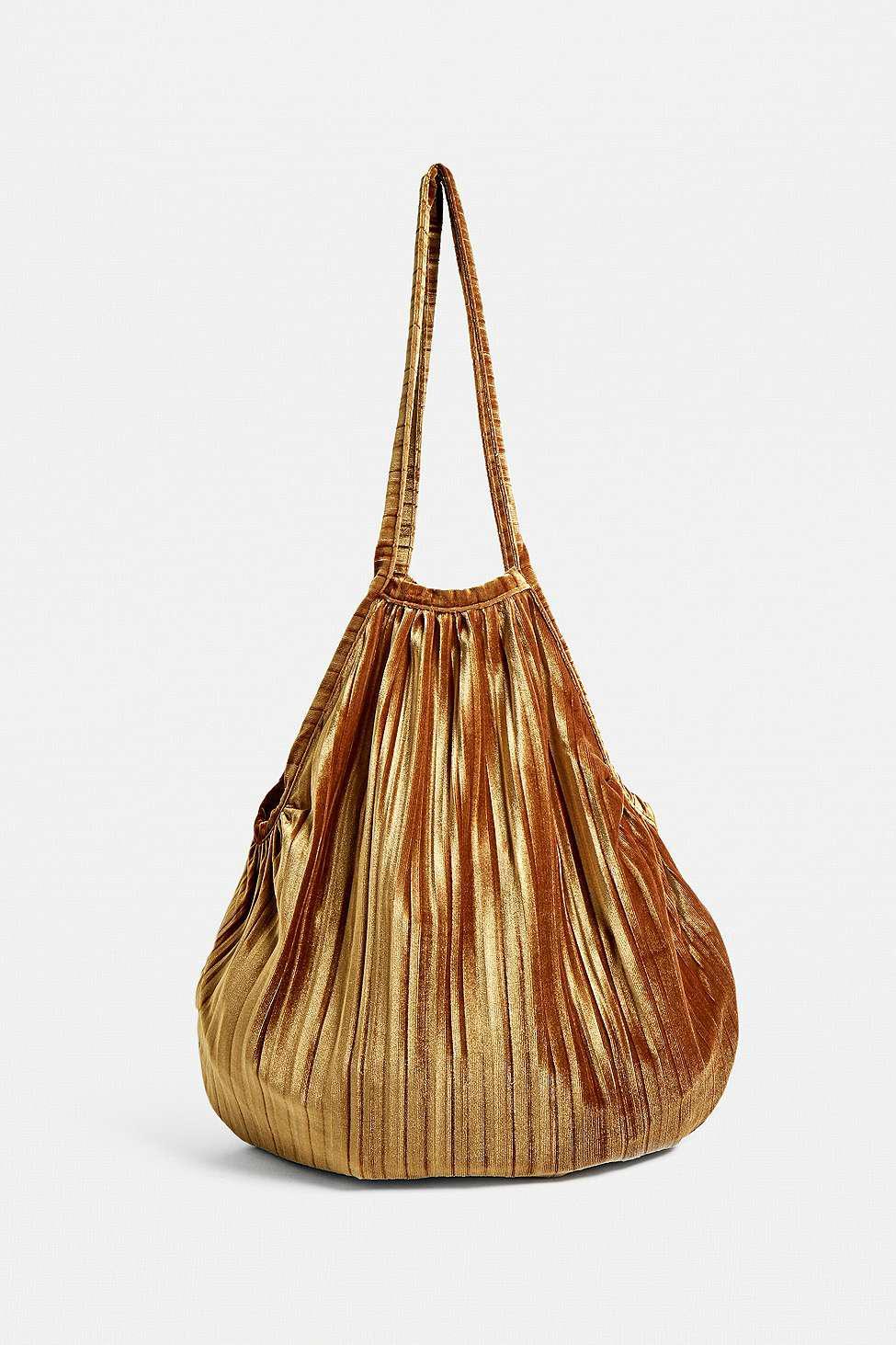 b7fddc8404 Urban Outfitters Uo Velvet Plisse Pleated Shopper Tote Bag - Womens ...