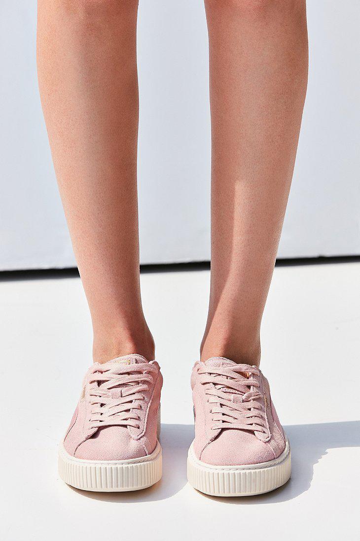 suede summer satin platform sneakers
