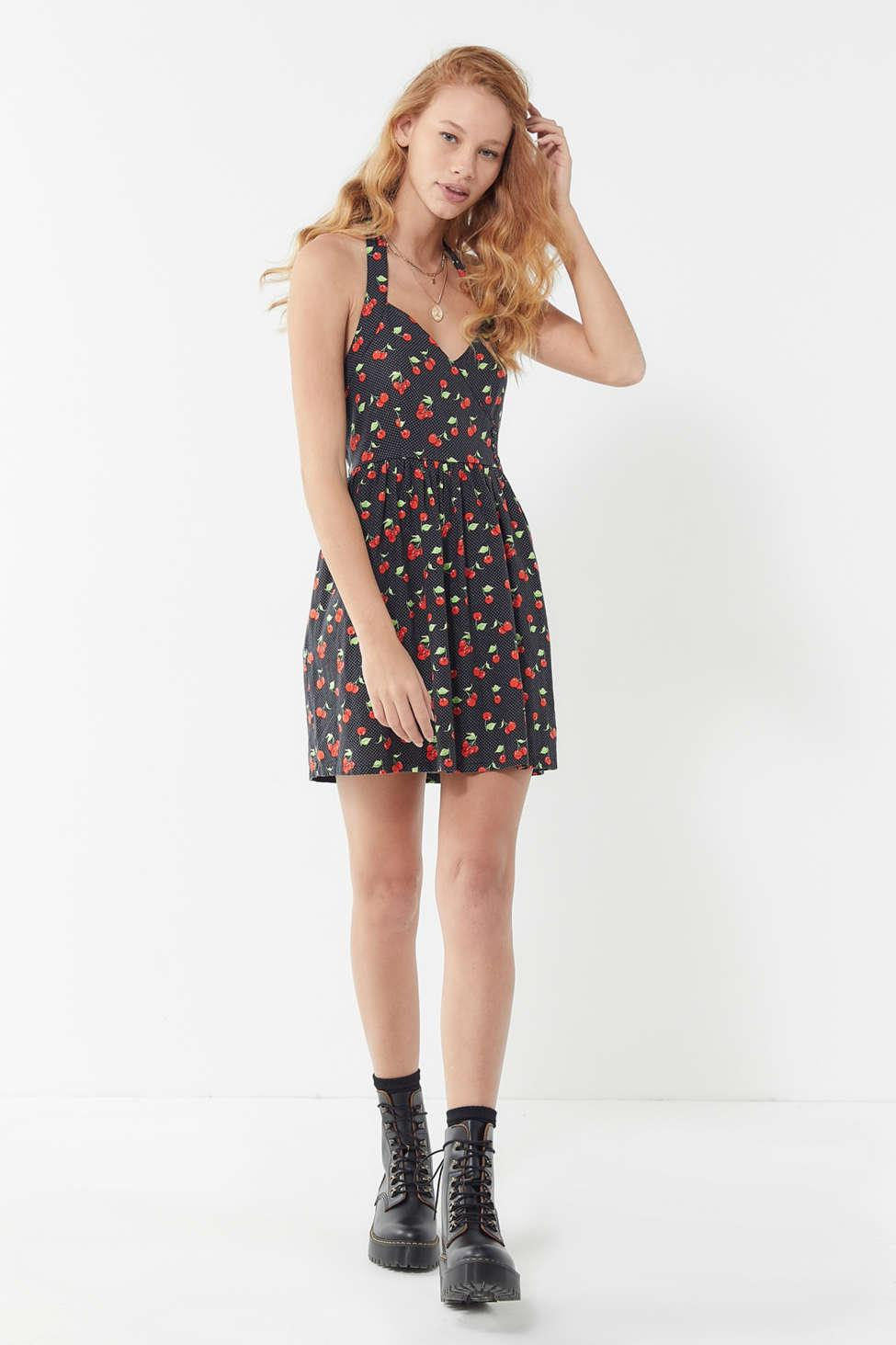 11062b2d7ee Lyst - Urban Outfitters Uo Marnie Linen Halter Mini Dress