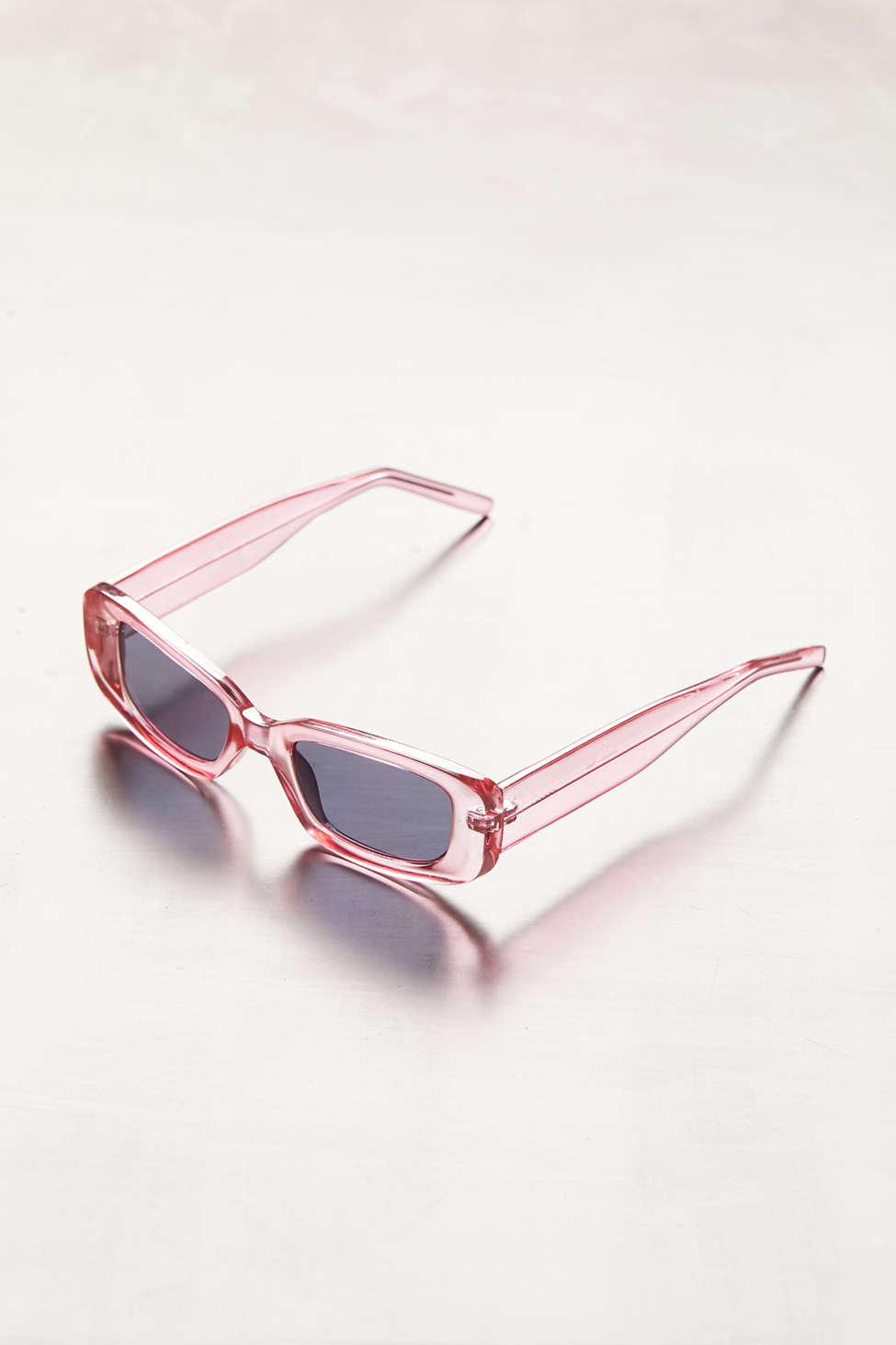 7e08c7fc26 Lyst - Urban Outfitters Reese Slim Rectangle Sunglasses in Pink