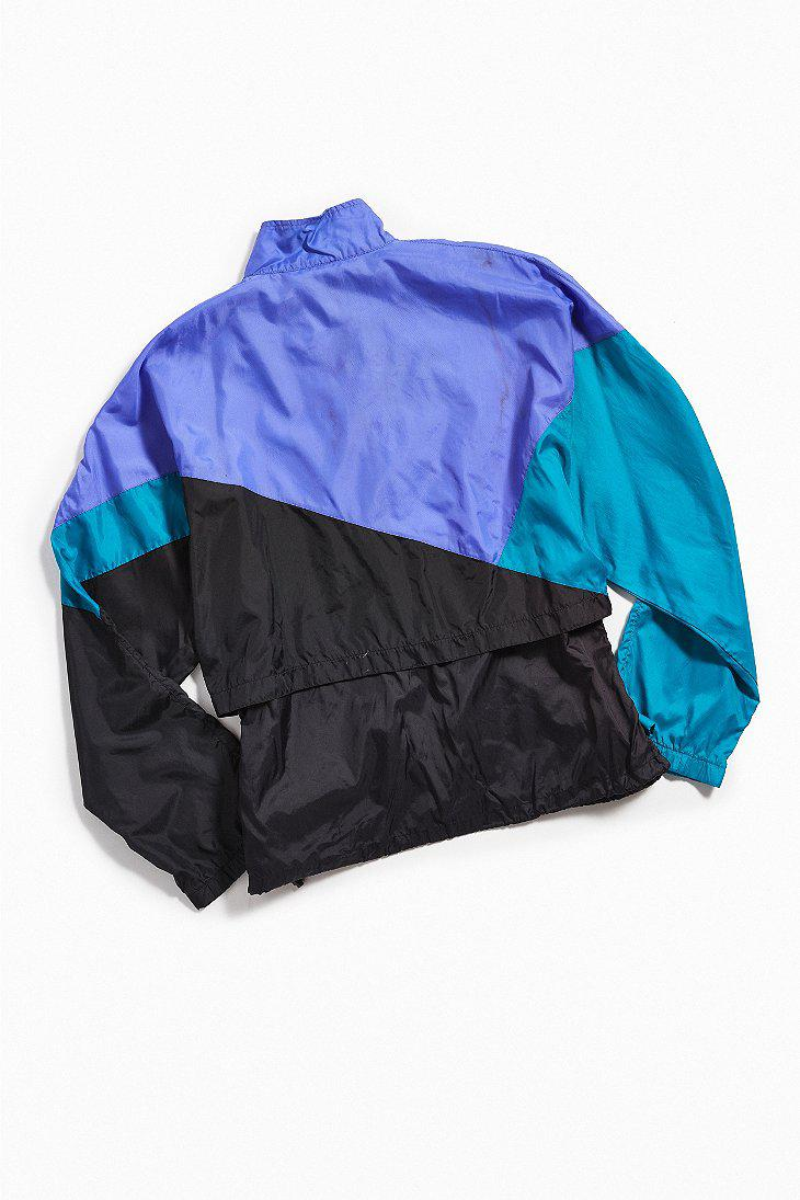 d68f350378d1 Lyst - Urban Outfitters Vintage Nike Purple + Teal Windbreaker ...
