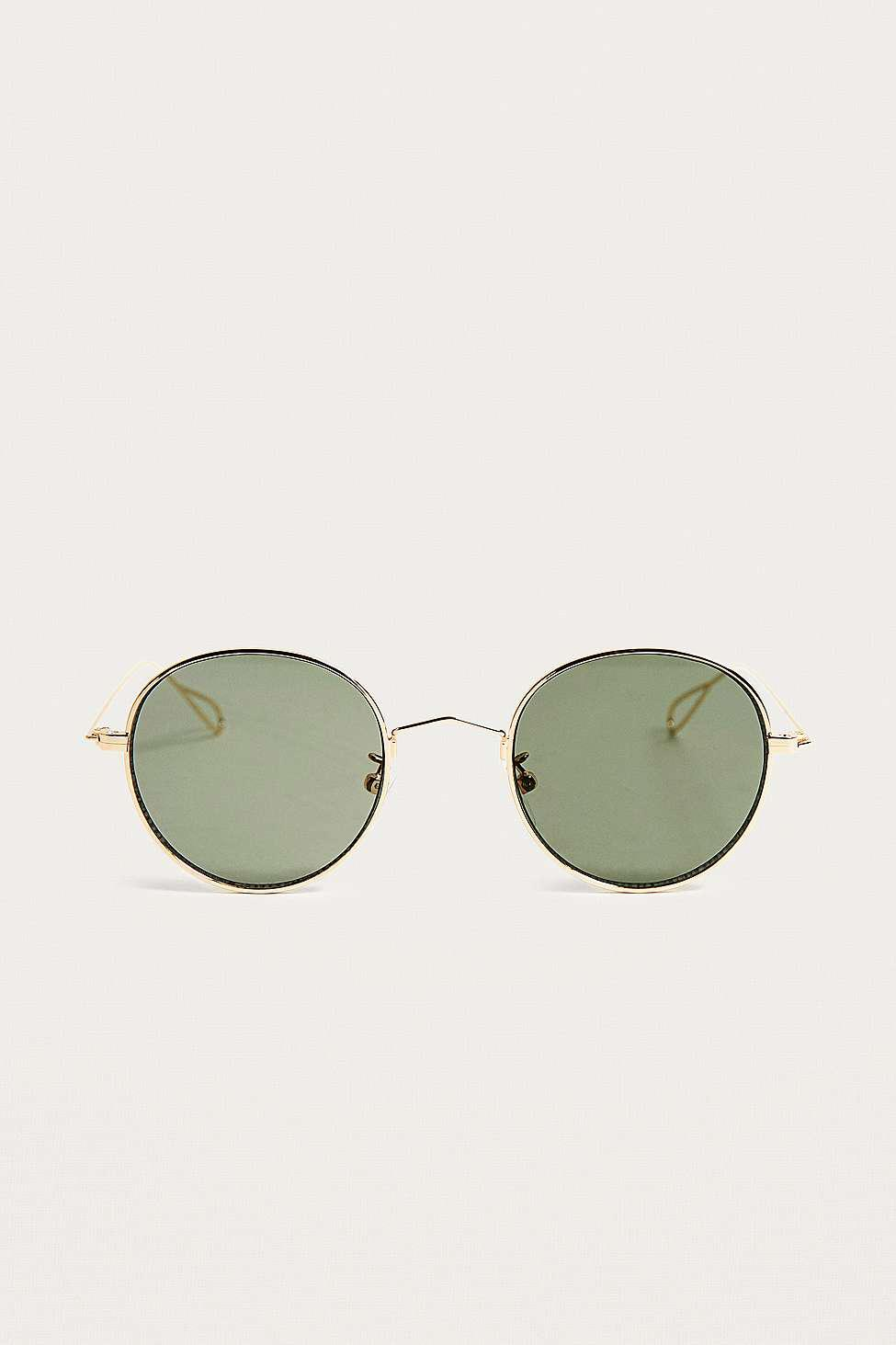Urban Outfitters Uo 'smith' Gold Sunglasses - Mens All in Metallic for Men