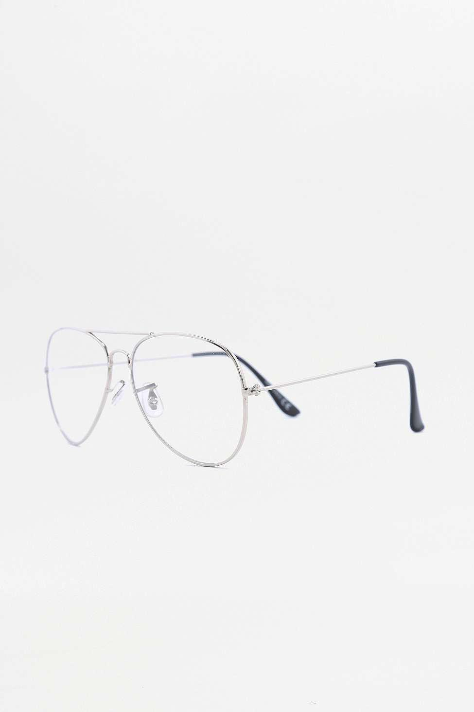 urban outfitters silver aviator readers in metallic for men lyst Oakley Sunglasses gallery