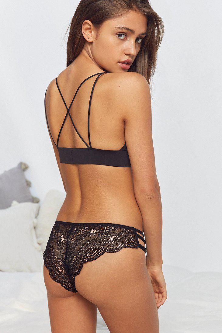 347bbaa354 Urban Outfitters Crush On You Tanga in Black - Lyst
