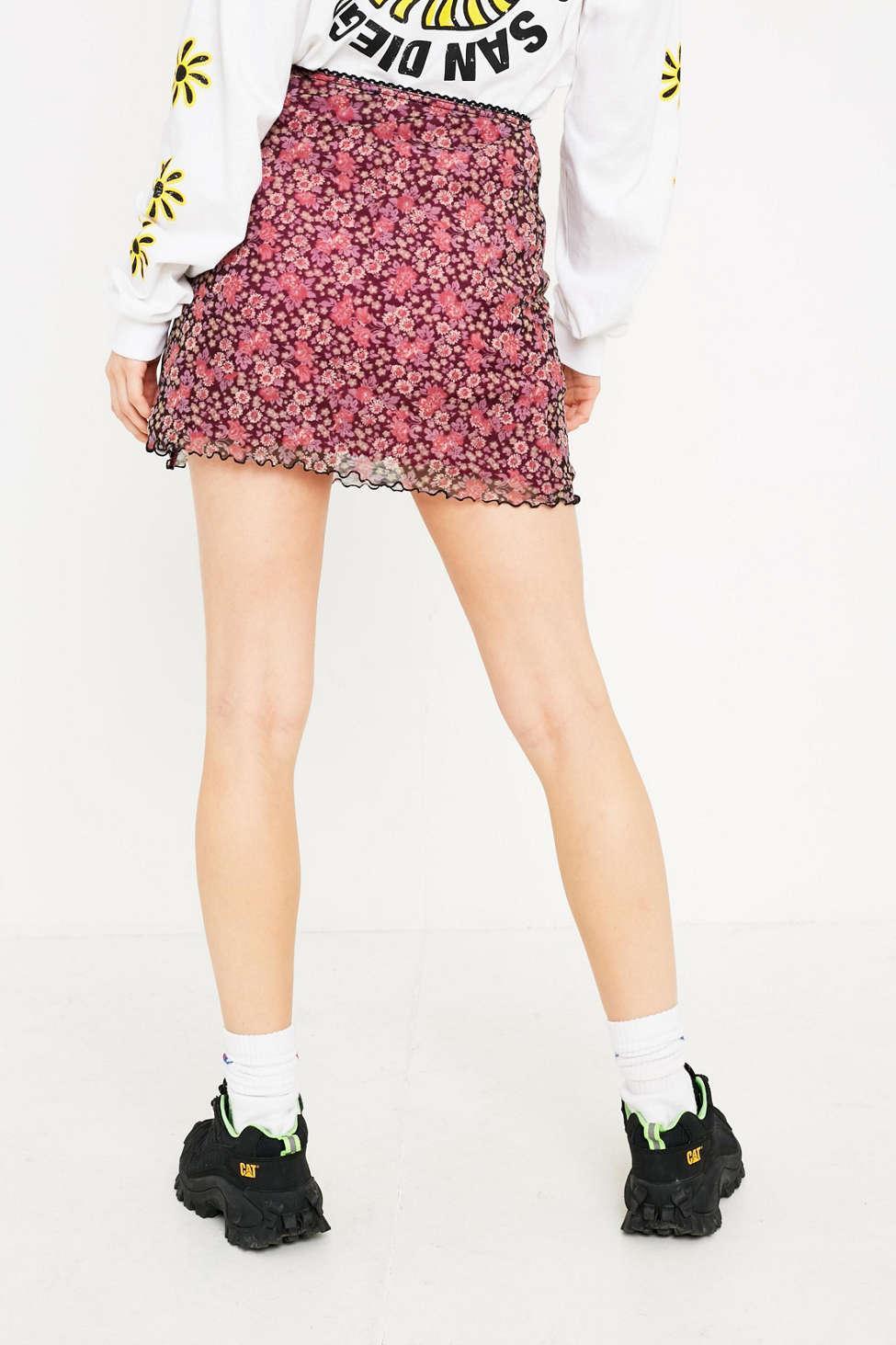 90s Flower Mini Skirt