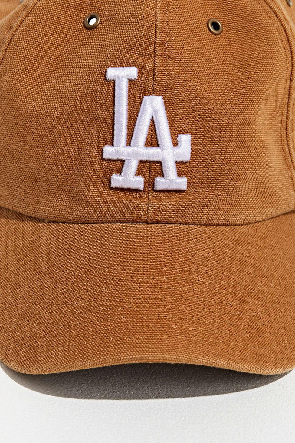 f0c922ec 47 Brand Natural X Carhartt Los Angeles Dodgers Dad Baseball Hat for men