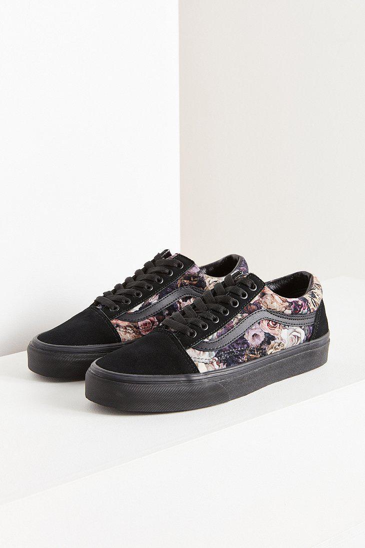 06810f6fcea Lyst - Vans Vans Floral Velvet Old Skool Sneaker in Black