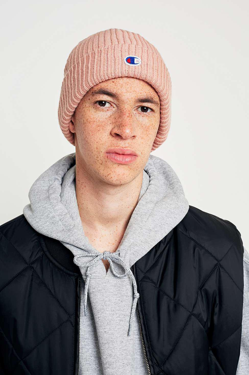 3daf7557d934a Champion Rose Logo Beanie - Mens All in Pink for Men - Lyst