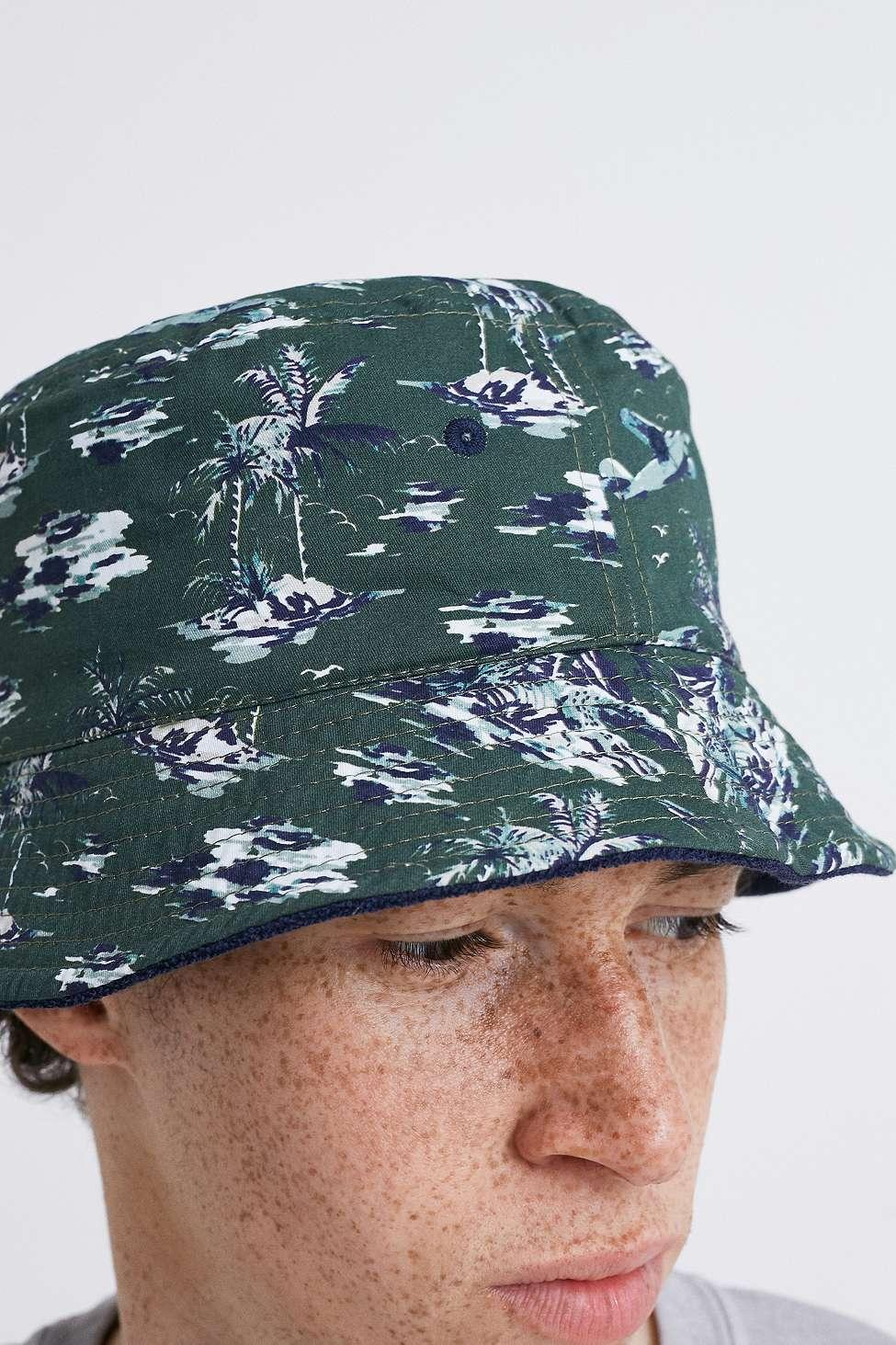 1b25dae236b Lacoste - Blue Reversible Bucket Hat for Men - Lyst. View fullscreen
