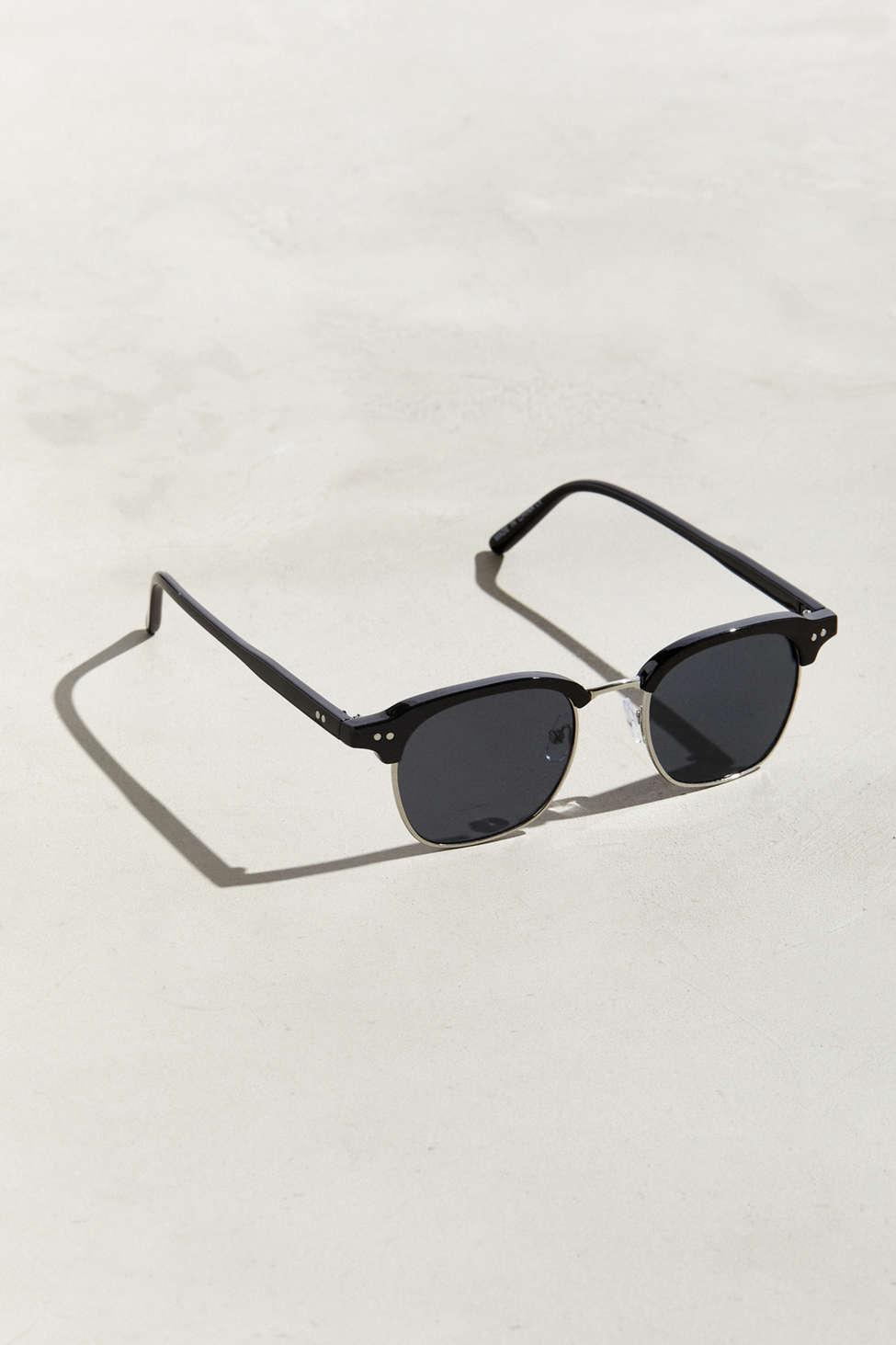 ba034a6a3a Lyst - Urban Outfitters Clyde Granddad Half-frame Sunglasses in ...