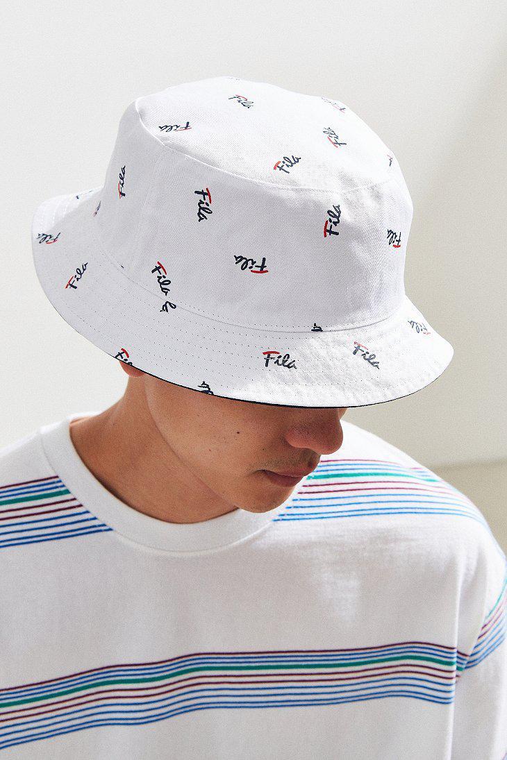 Fila Fila Reversible Bucket Hat in Blue for Men - Lyst 92be3d17210b
