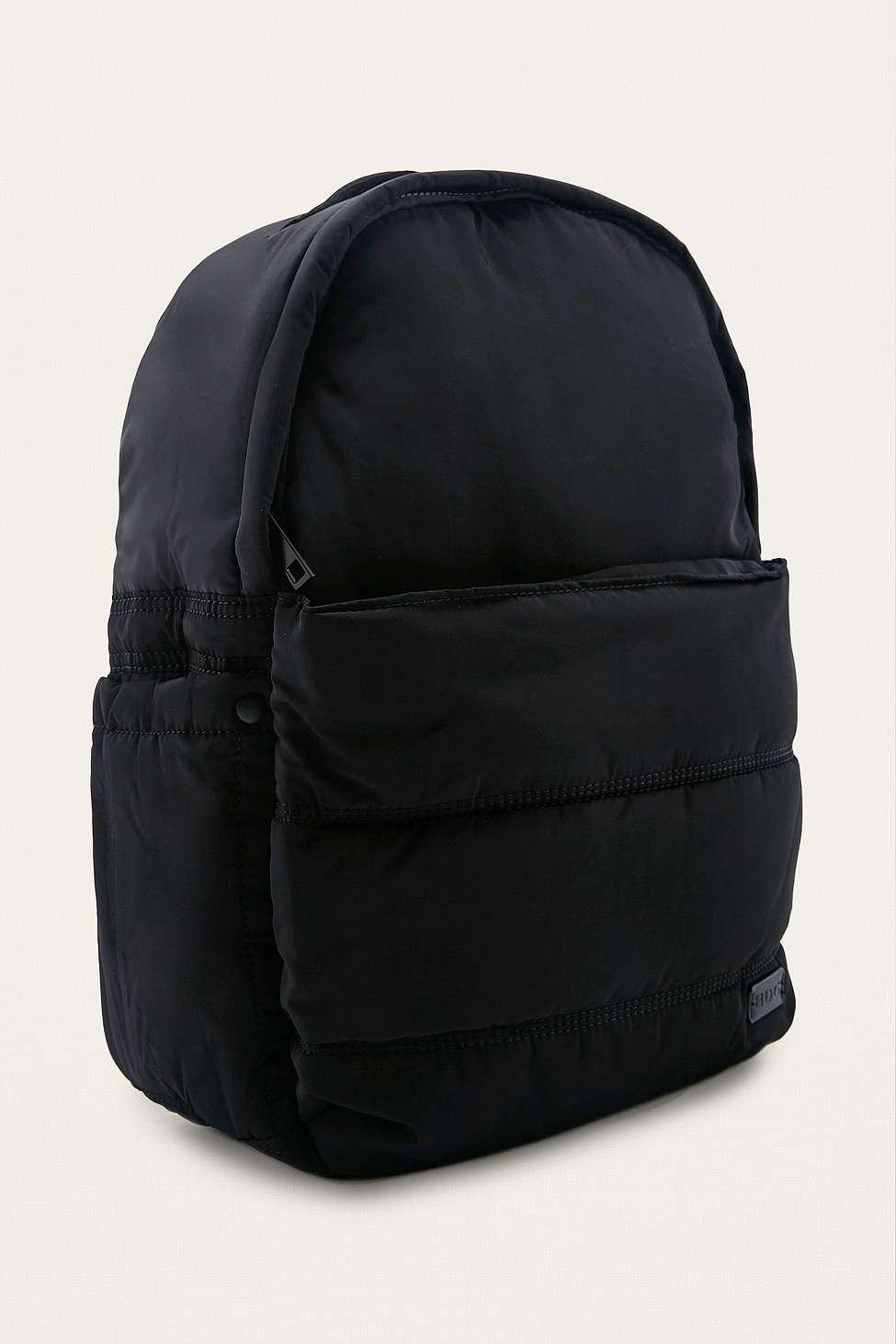 BDG Synthetic Black Quilted Puffer Backpack