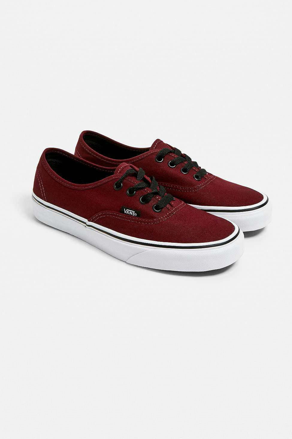 Vans - Red Authentic Port Trainers - Womens Uk 3 - Lyst. View fullscreen 34fefbe39
