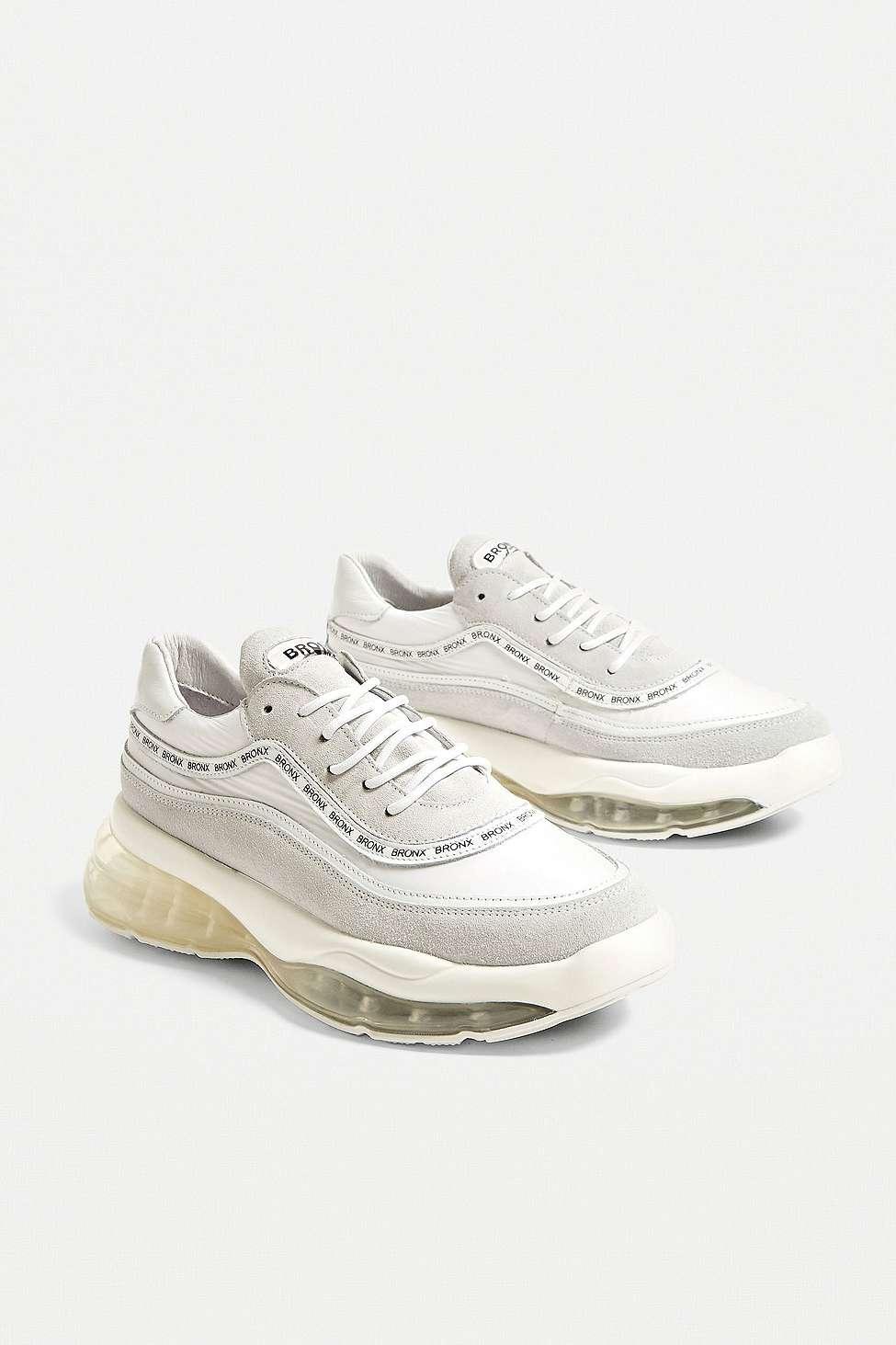 Bronx Bubbly White \u0026 Grey Suede Bubble
