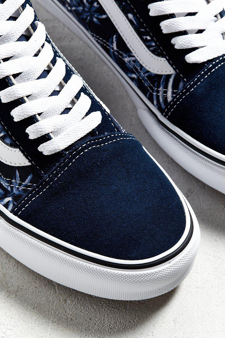vans old skool blue palms sneaker