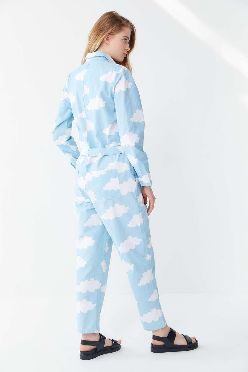 Head In The Clouds Button front Coverall