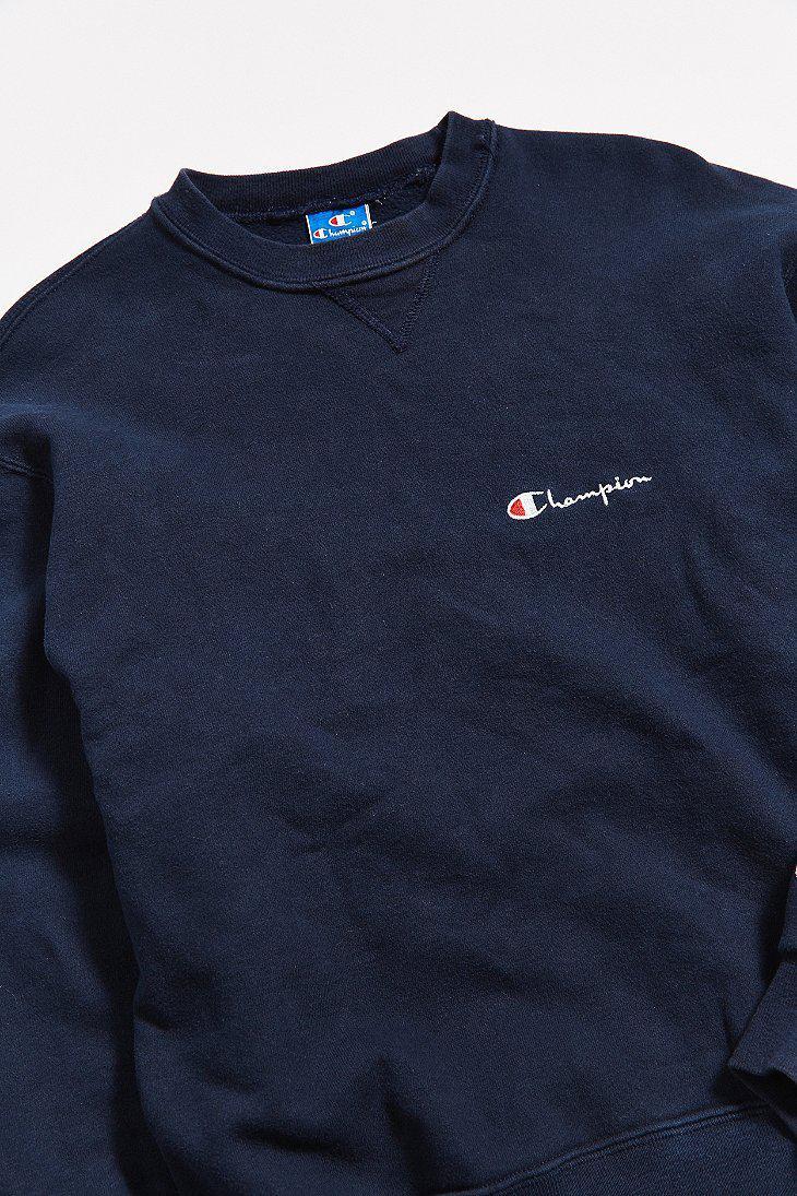 c036f5f24105 Lyst - Urban Outfitters Vintage Champion Navy Crew Neck Sweatshirt ...