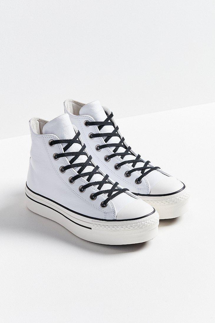 white converse platform high tops