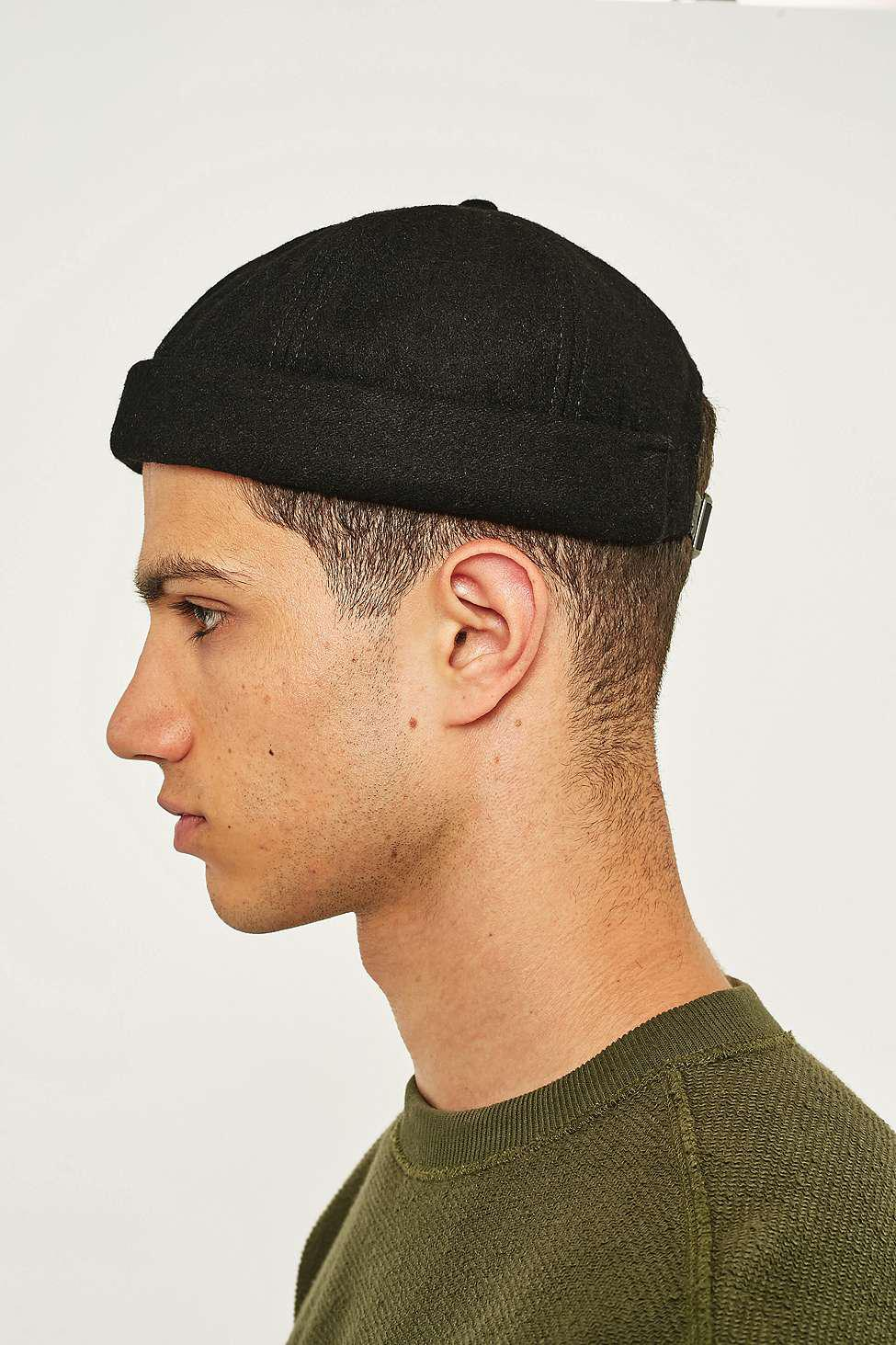 Urban Outfitters Uo Black Melton Docker Cap - Mens All in Black for ... 628f97100f5