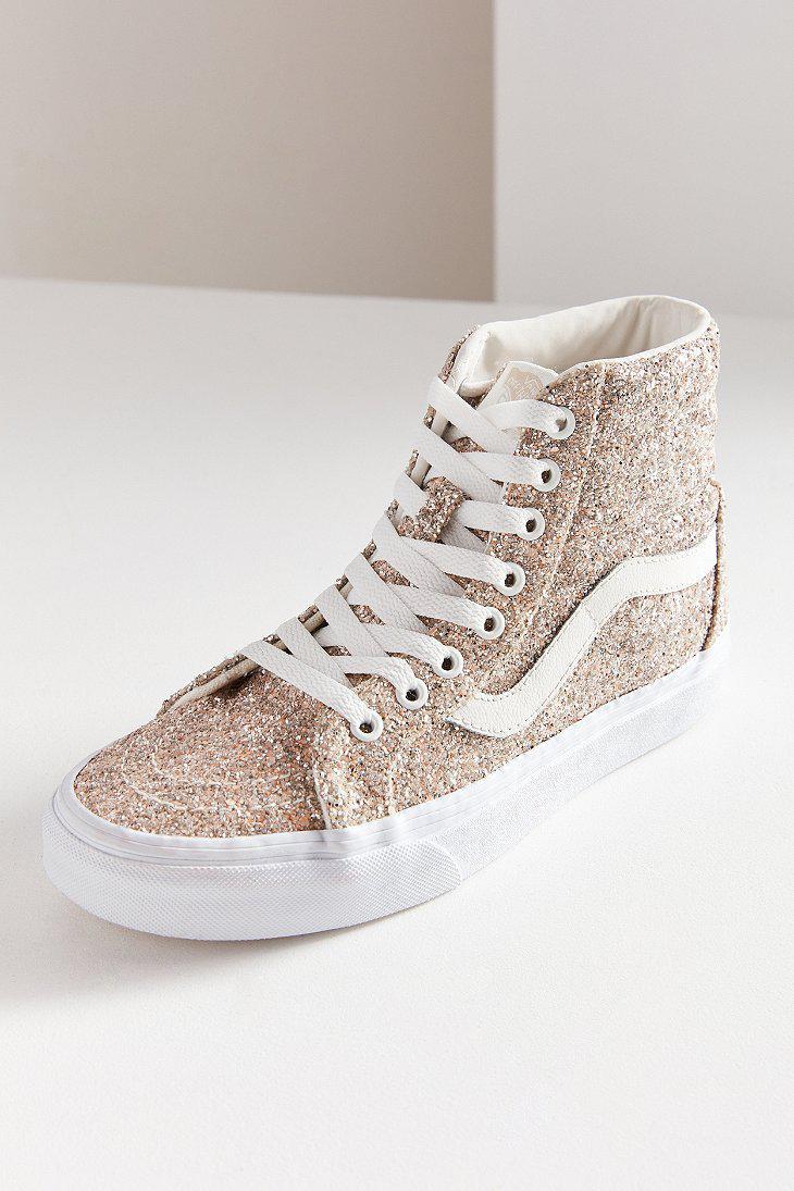 Vans Women's Ua Sk8-Hi Reissue Glitter Sneaker zeBDIjuKKk