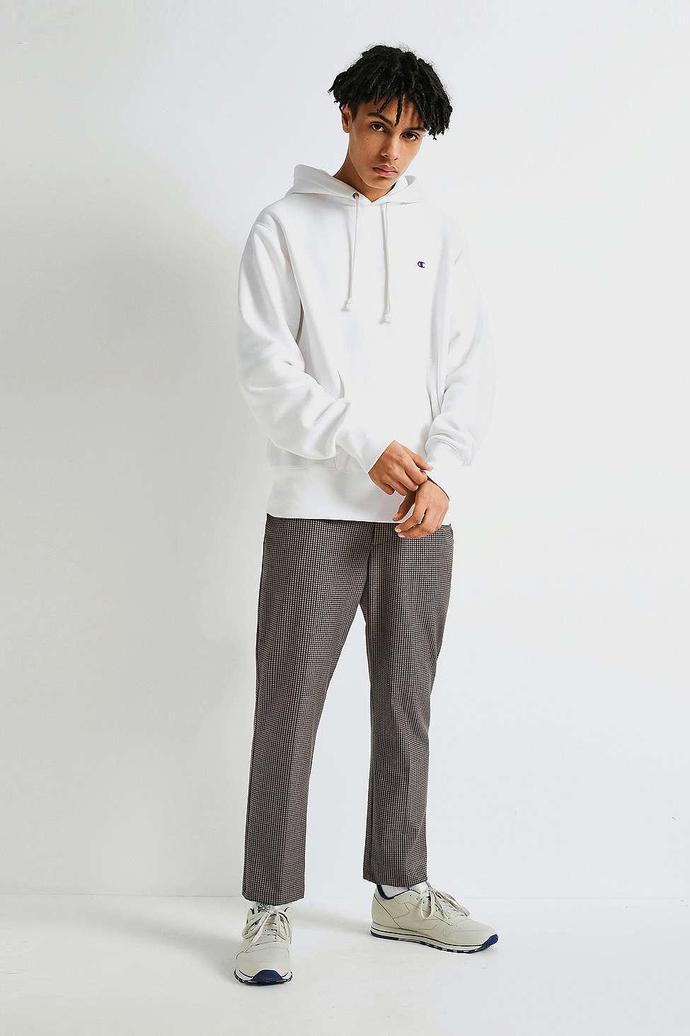 Champion Cotton X Uo White Reverse Weave Hoodie for Men
