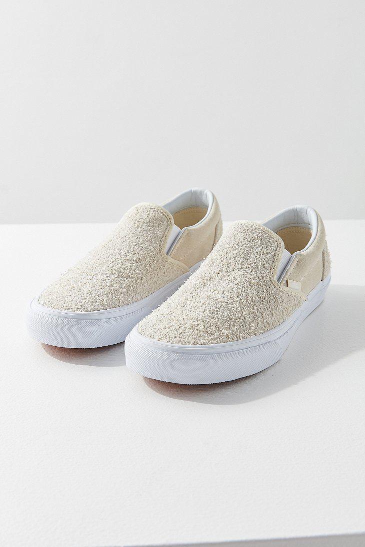 5355847bd3f5 Lyst - Vans Vans Hairy Suede Classic Slip-on Sneaker