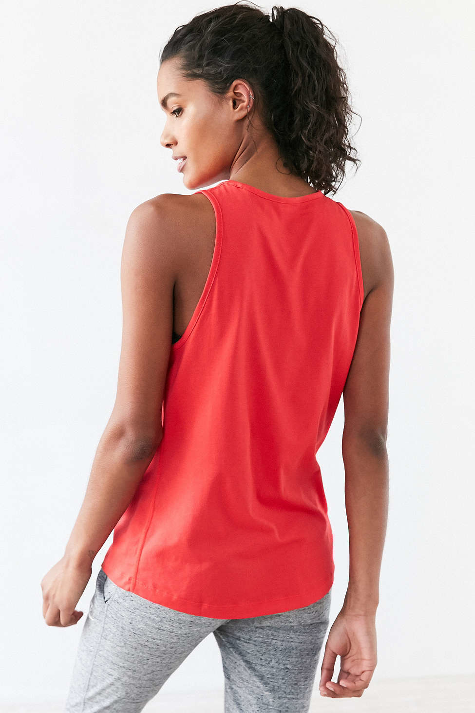 Lyst Nike Tomboy Graphic Training Tank Top In Red