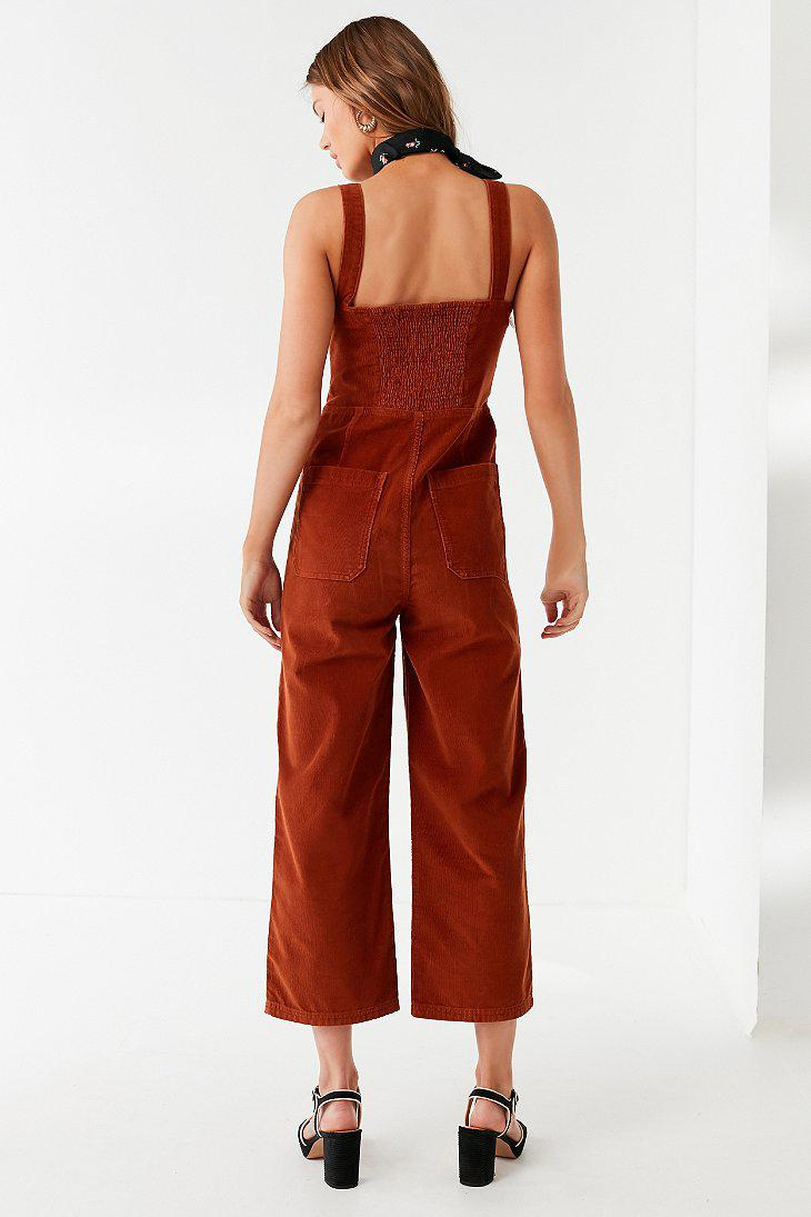 4aa8c8a6e68 Lyst - Urban Outfitters Uo Corduroy Dungaree Jumpsuit in Red