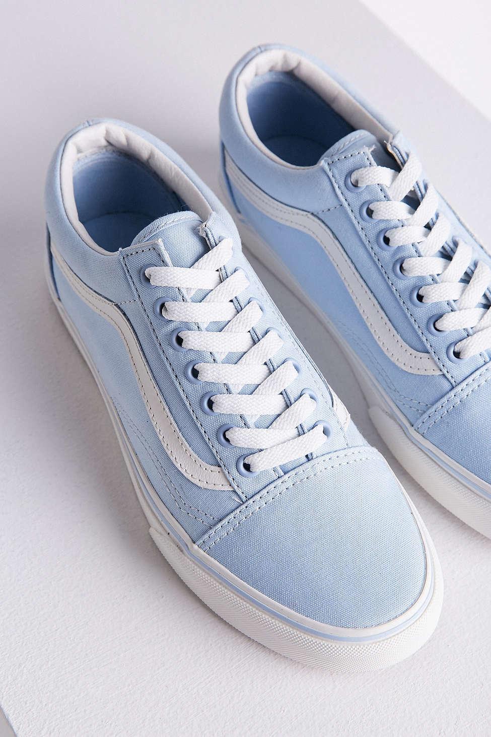 vans pastel blue old skool trainers