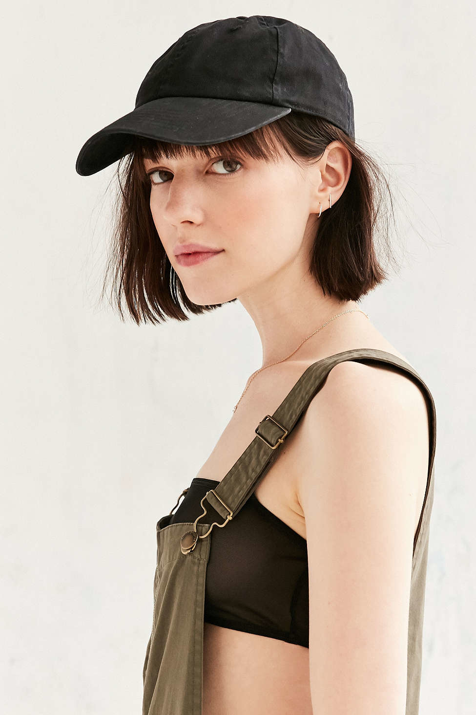 73cc6cd70da Lyst - Urban Outfitters Uo Washed Canvas Baseball Hat in Black