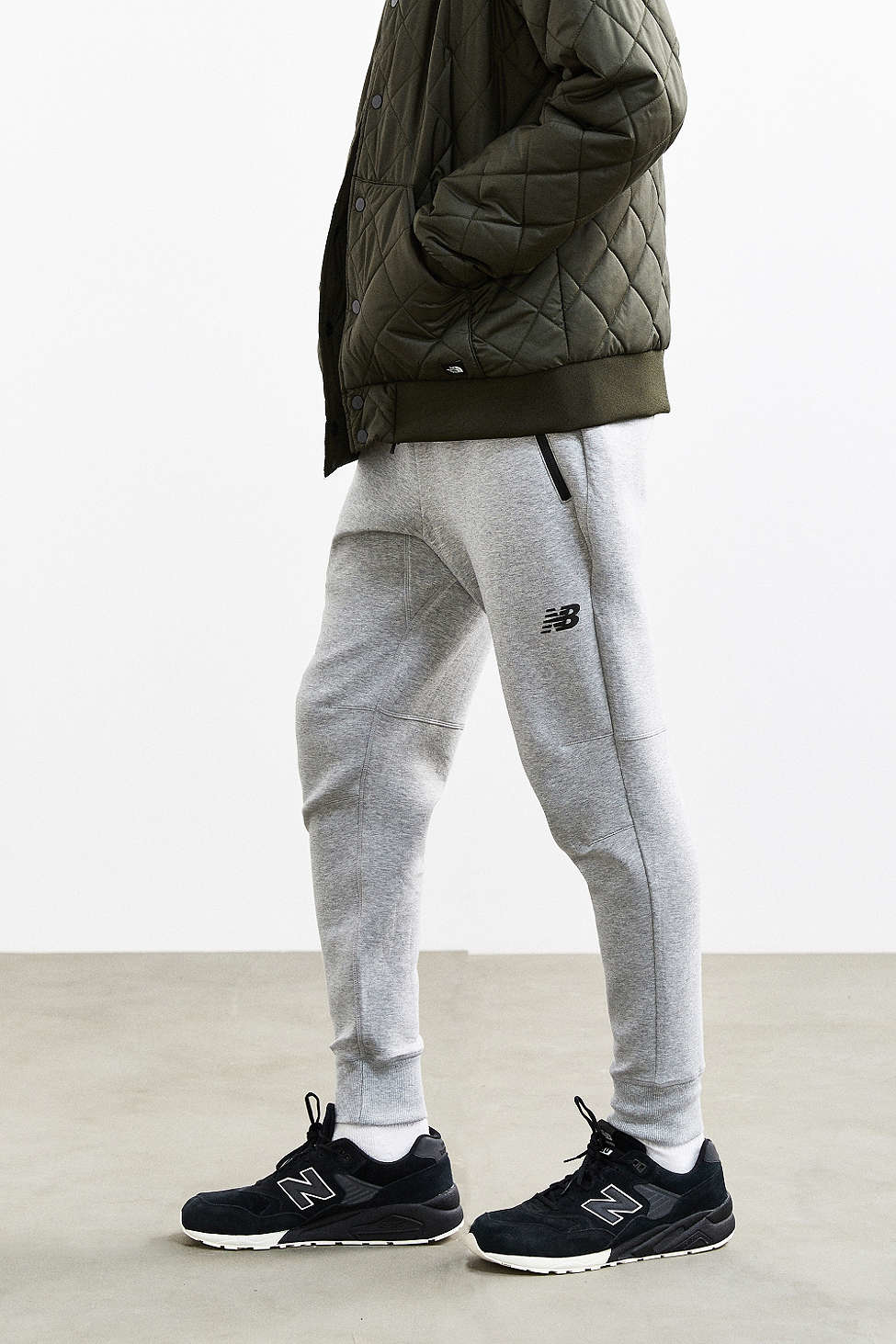 8a8f4c9acd041 New Balance Sport Style Bonded Fleece Sweatpant in Gray for Men - Lyst