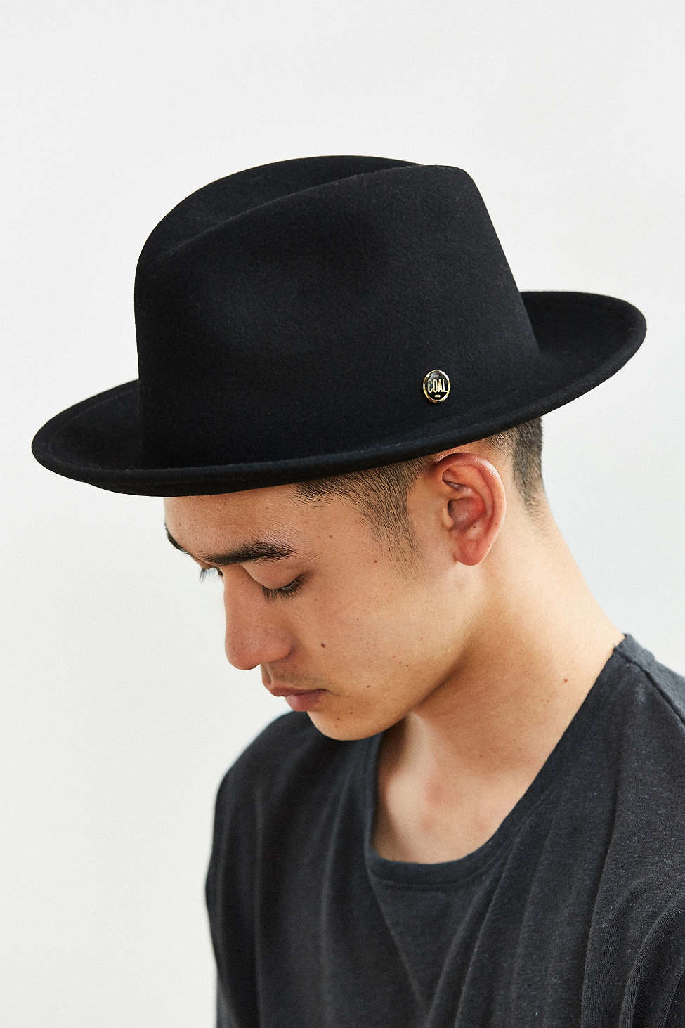 a6ffdcd7b32 Lyst - Coal Howell Crushable Fedora Hat in Black for Men