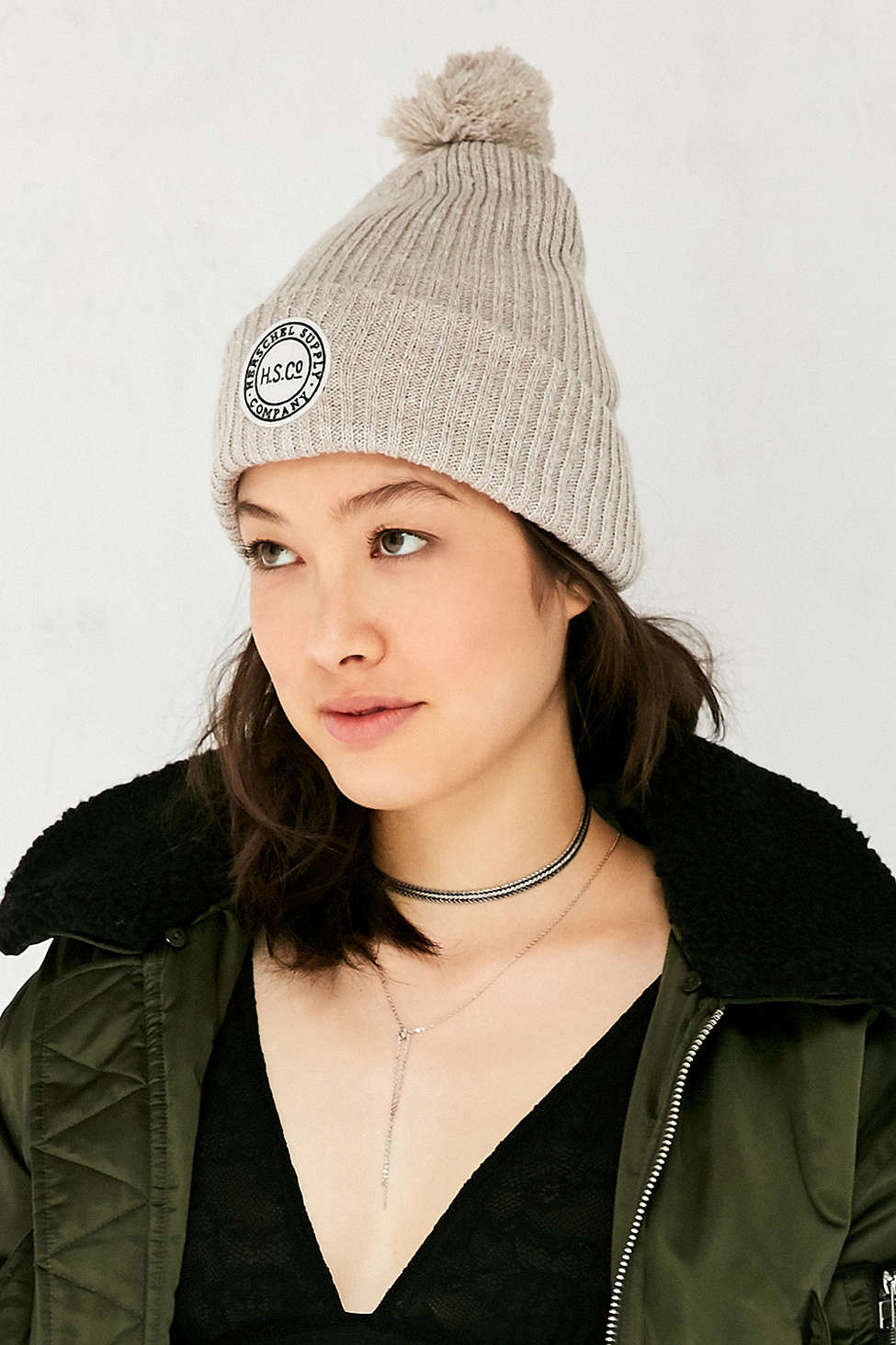 Herschel Supply Co. Negro Reflective Sepp Beanie TjZHaowY