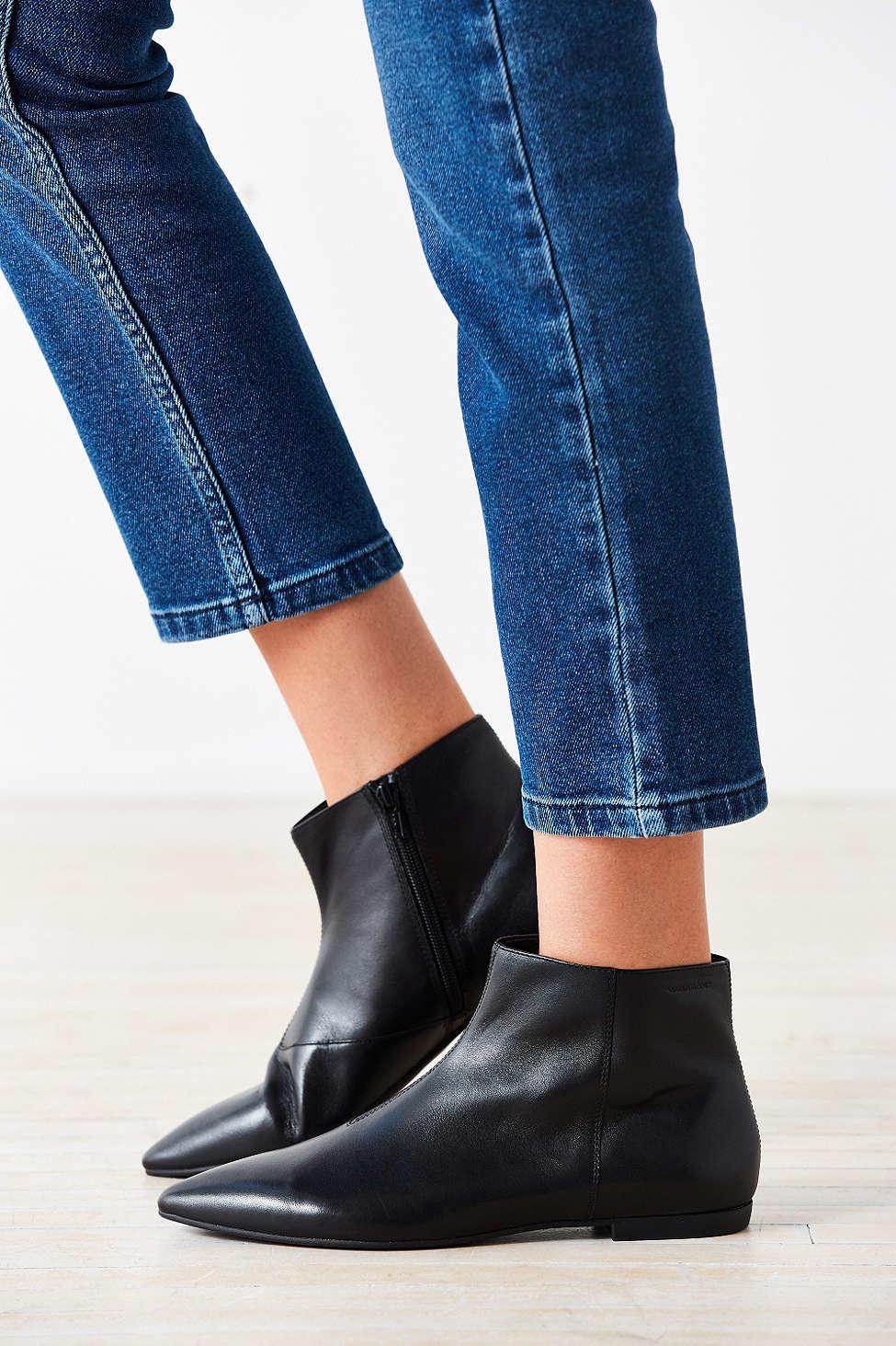vagabond katlin leather ankle boot in black lyst. Black Bedroom Furniture Sets. Home Design Ideas