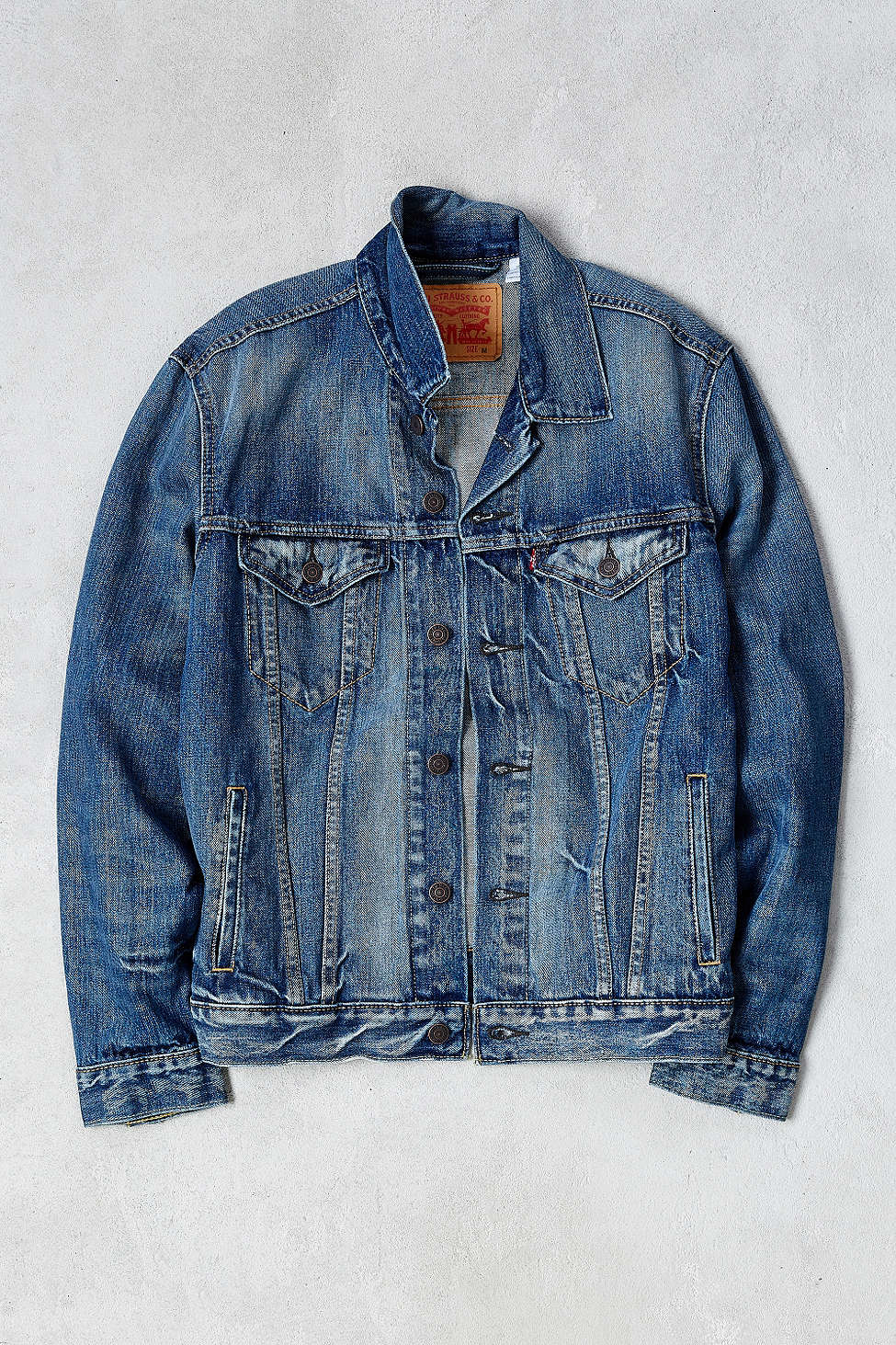 Lyst Levi S Danica Trucker Jacket In Blue For Men