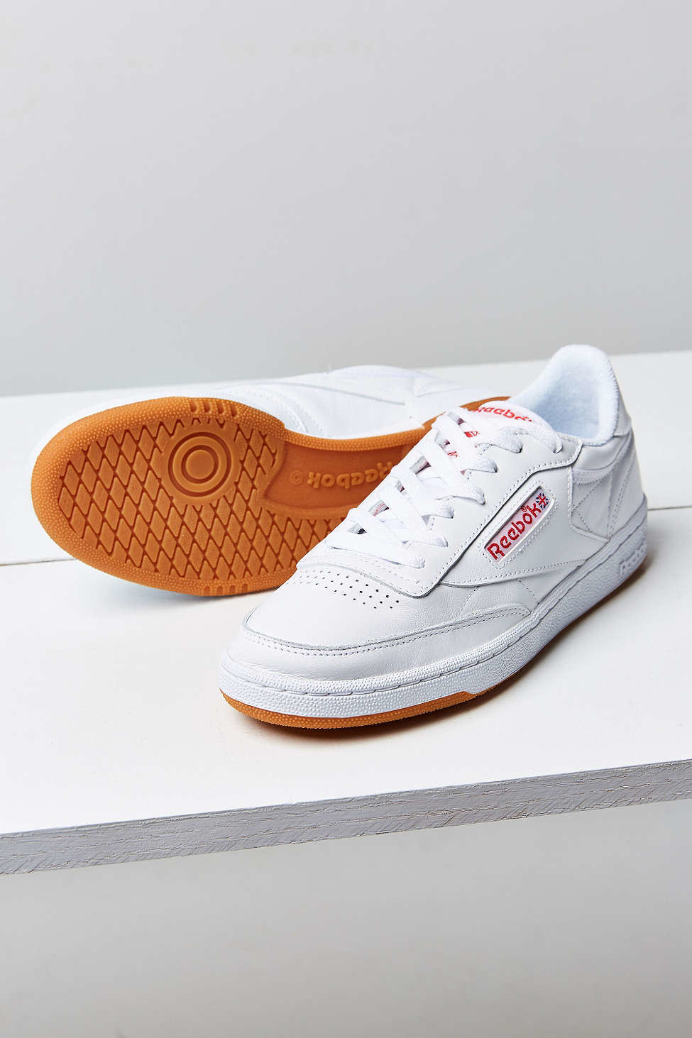 d06592463c916 Lyst - Reebok Club C 85 Gum Sole Sneaker in White