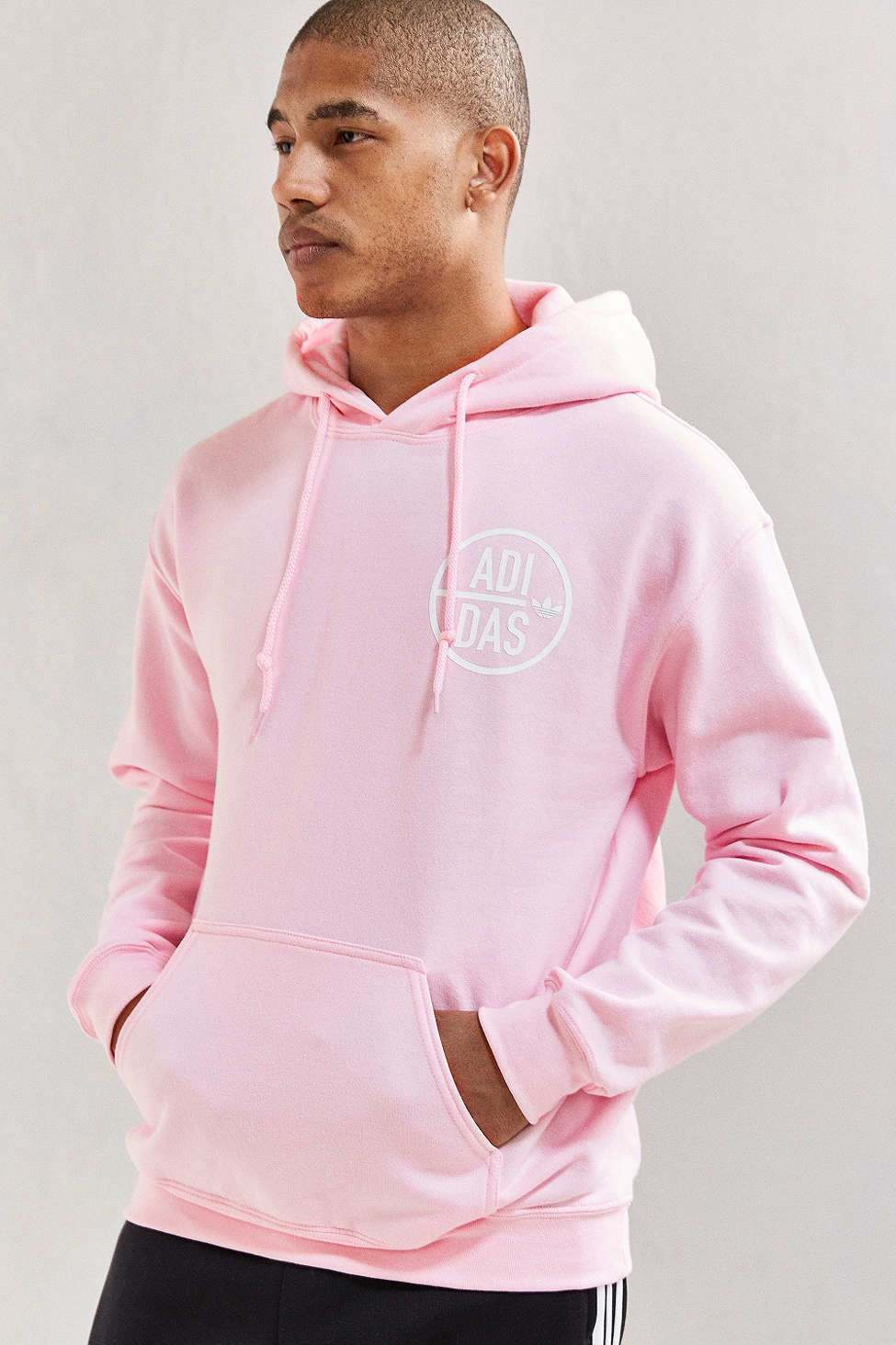 Men Adidas Pink Sweatshirt Back Hoodie Originals Again For IbvY6yf7gm