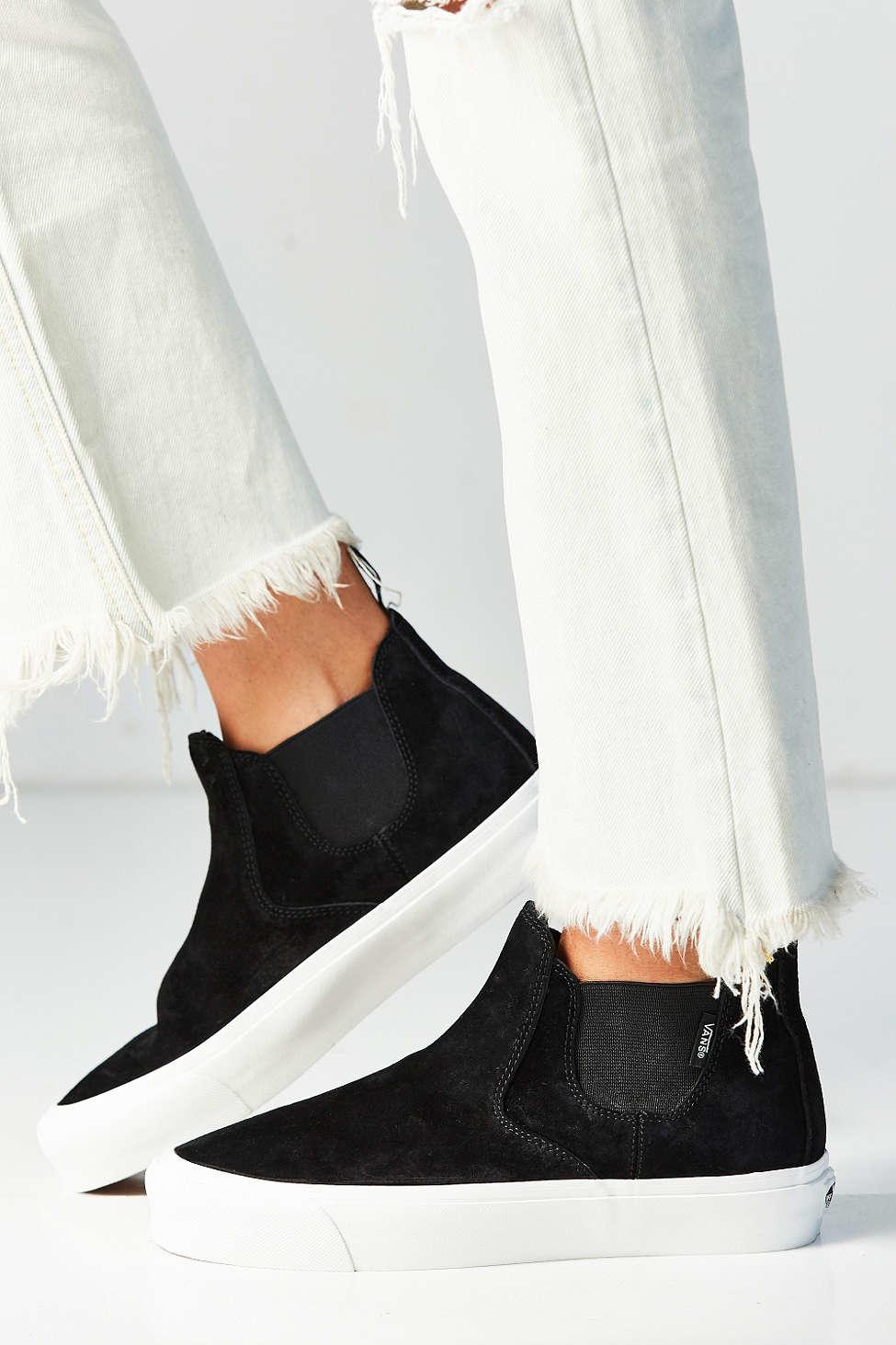54177620bf Lyst - Vans Scotchgard Slip-on Mid Dx Sneaker in Black