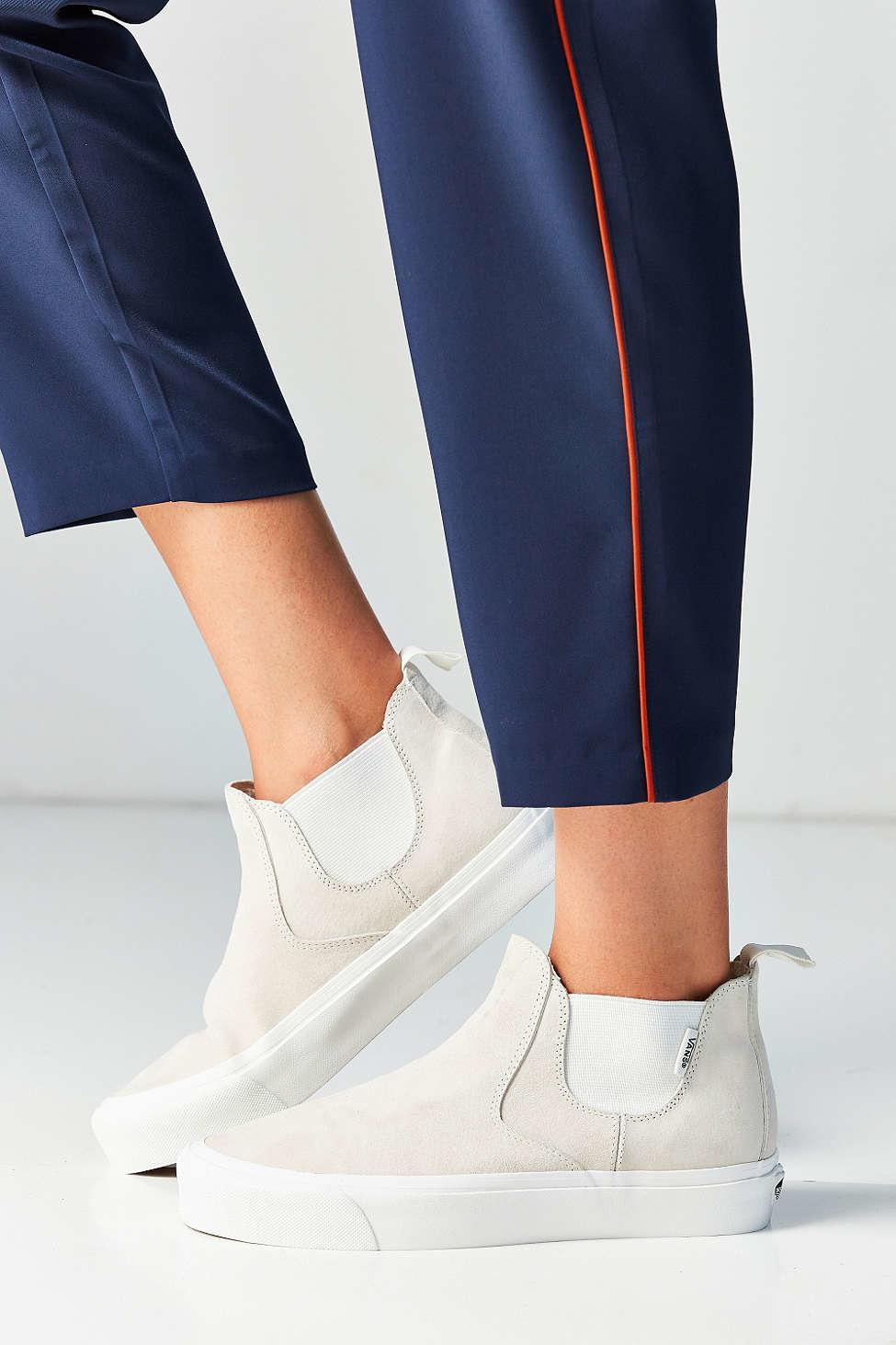 Lyst - Vans Scotchgard Slip-on Mid Dx Sneaker in White c49d24c78