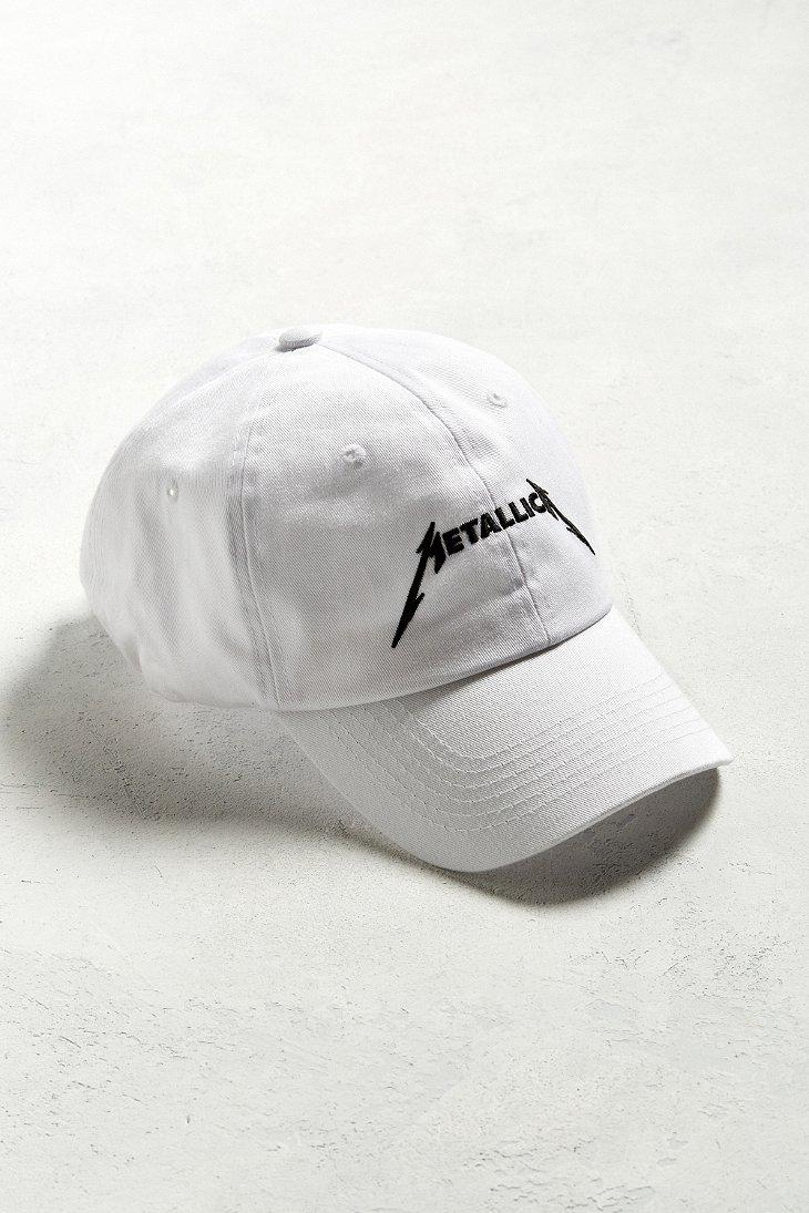 318042589a0 Urban Outfitters Metallica Dad Hat in White for Men - Lyst